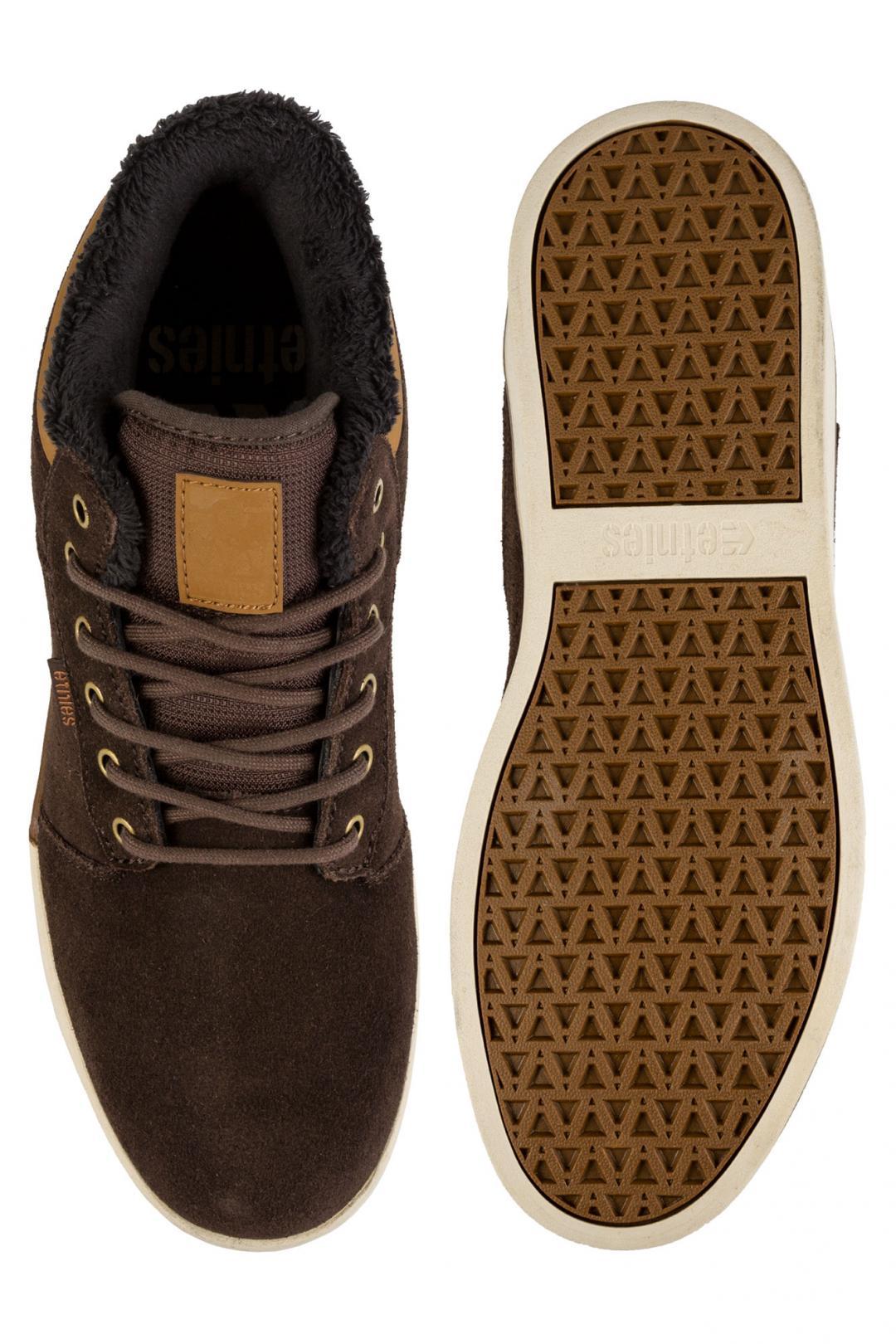 Uomo Etnies Jefferson Mid brown brown   Sneakers mid top