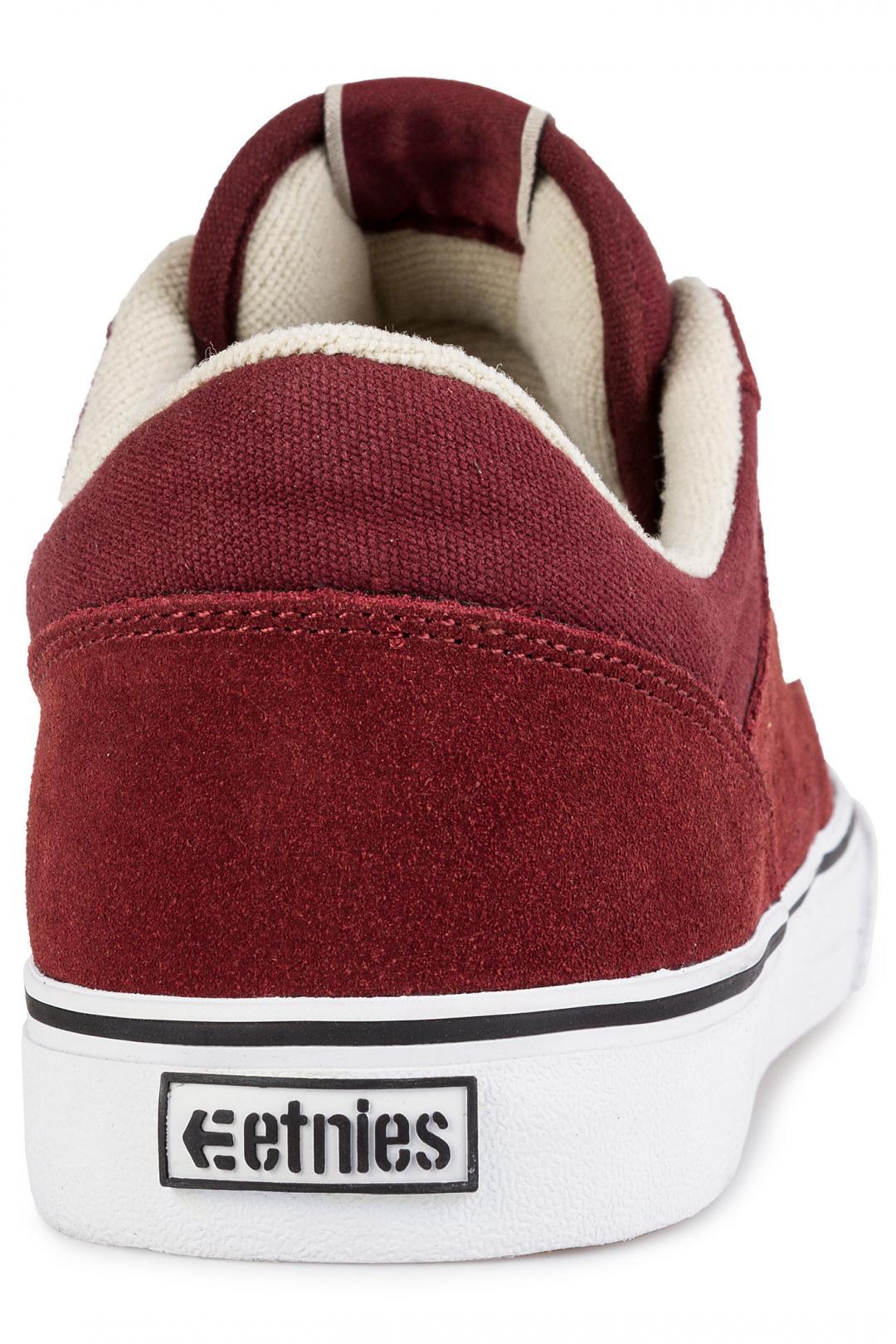 Uomo Etnies Marana Vulc burgundy white | Sneakers low top