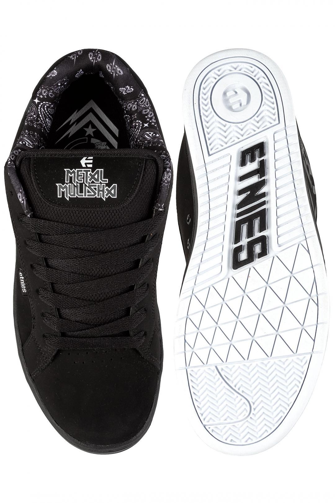 Uomo Etnies Metal Mulisha Fader black white | Scarpe da skate