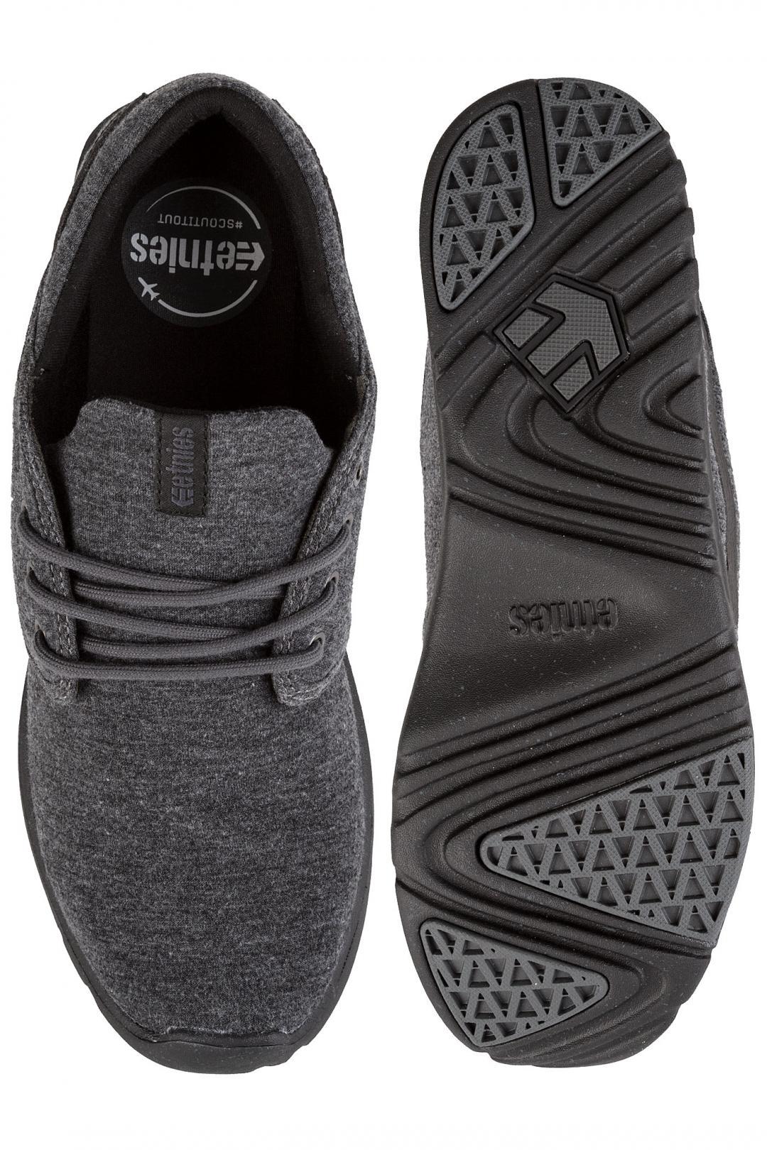 Uomo Etnies Scout black grey silver | Sneaker