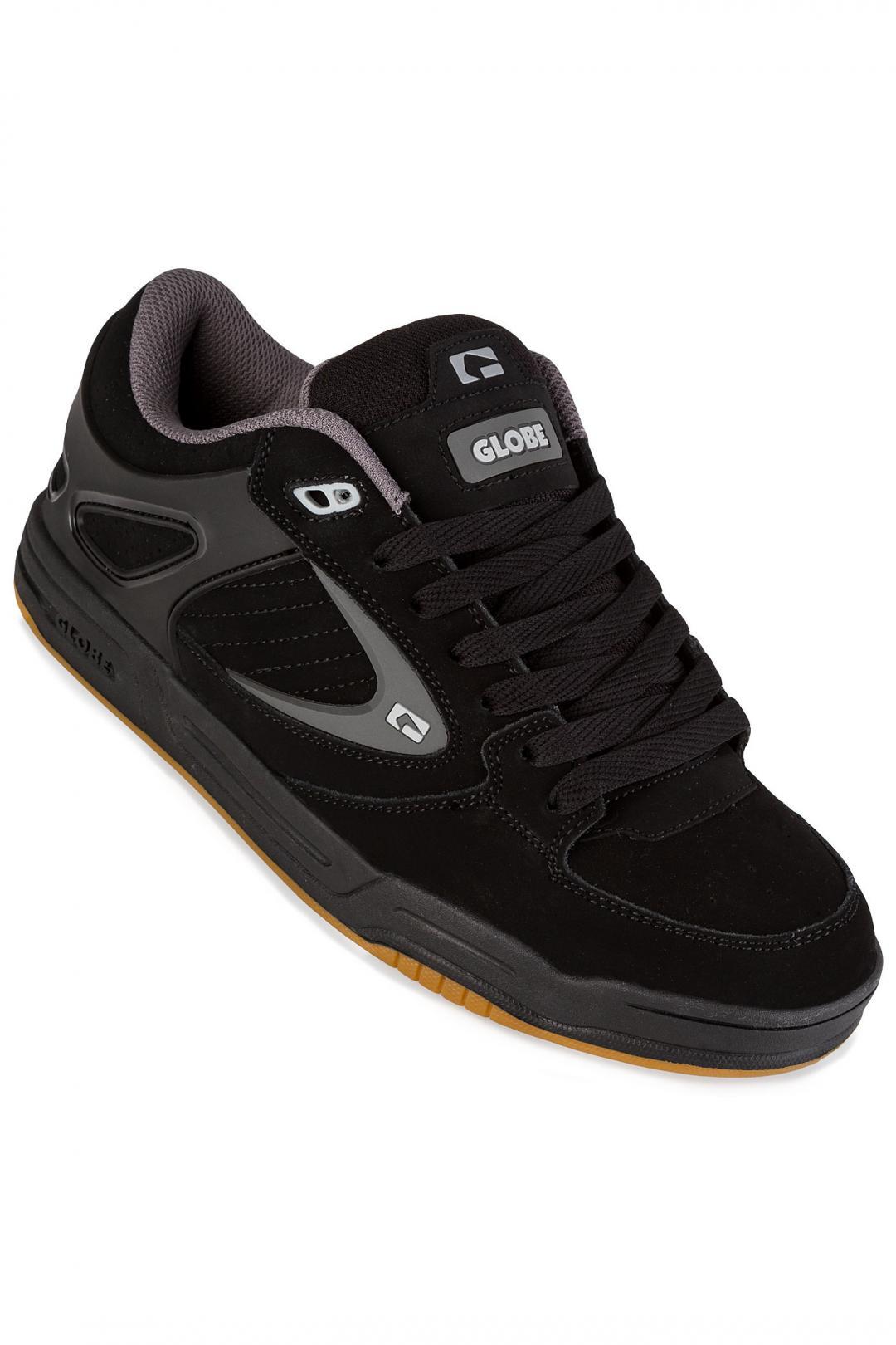 Uomo Globe Agent black black charcoal   Sneakers low top