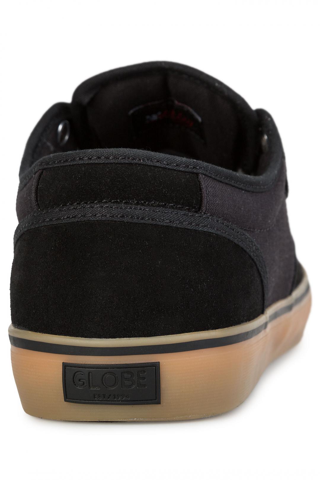 Uomo Globe Motley black black gum | Sneakers low top