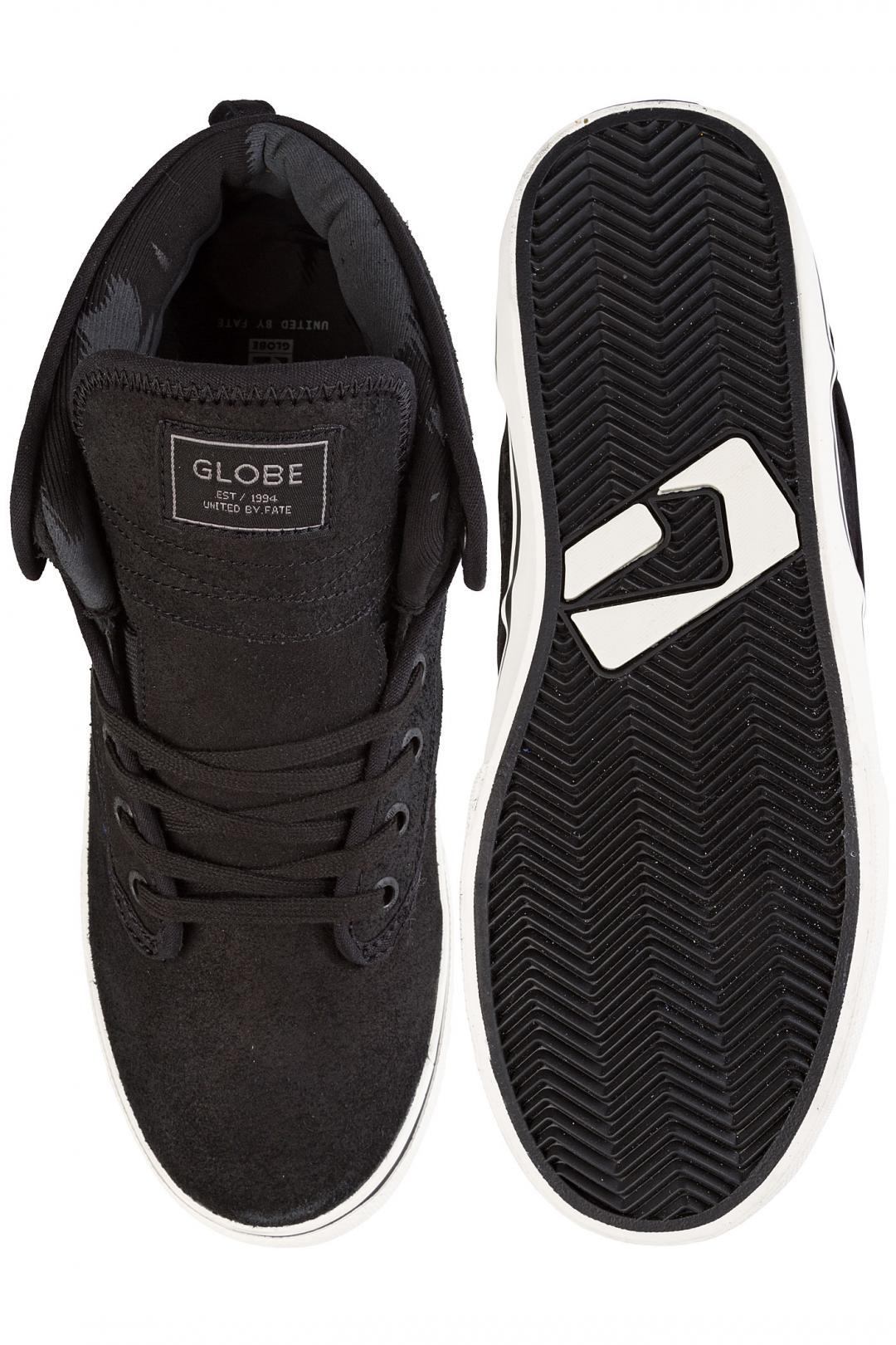 Uomo Globe Motley Mid black antique   Sneakers mid top