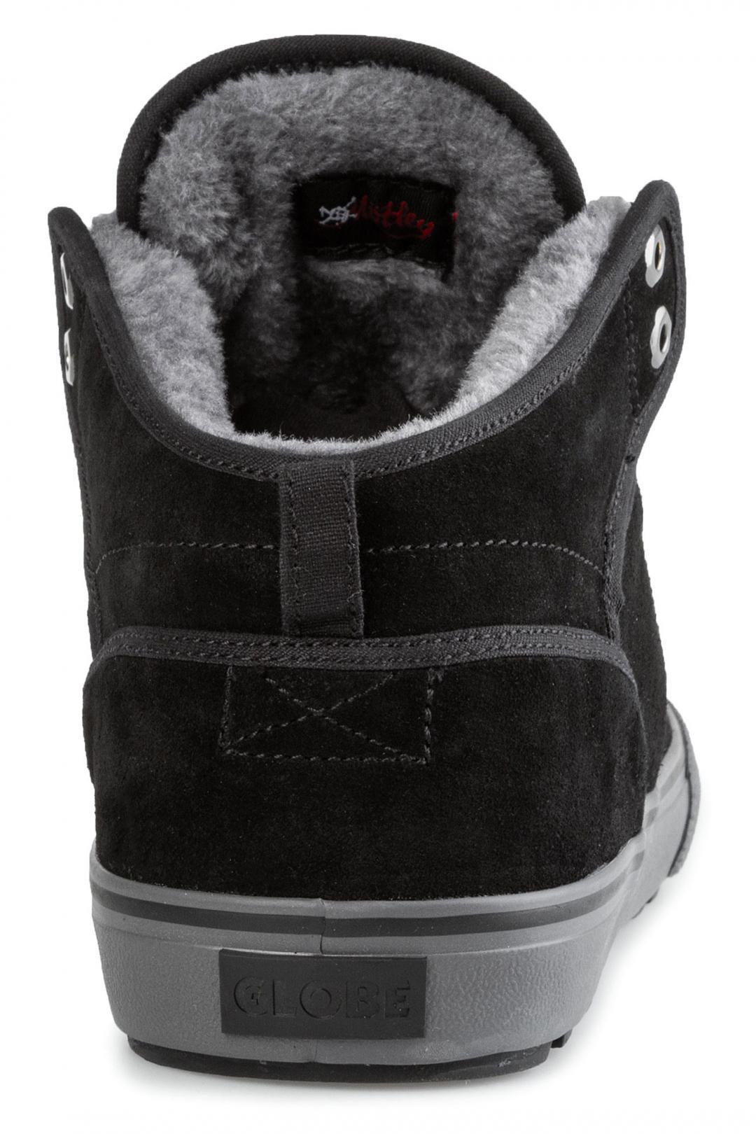 Uomo Globe Motley Mid black phantom fur | Sneakers mid top