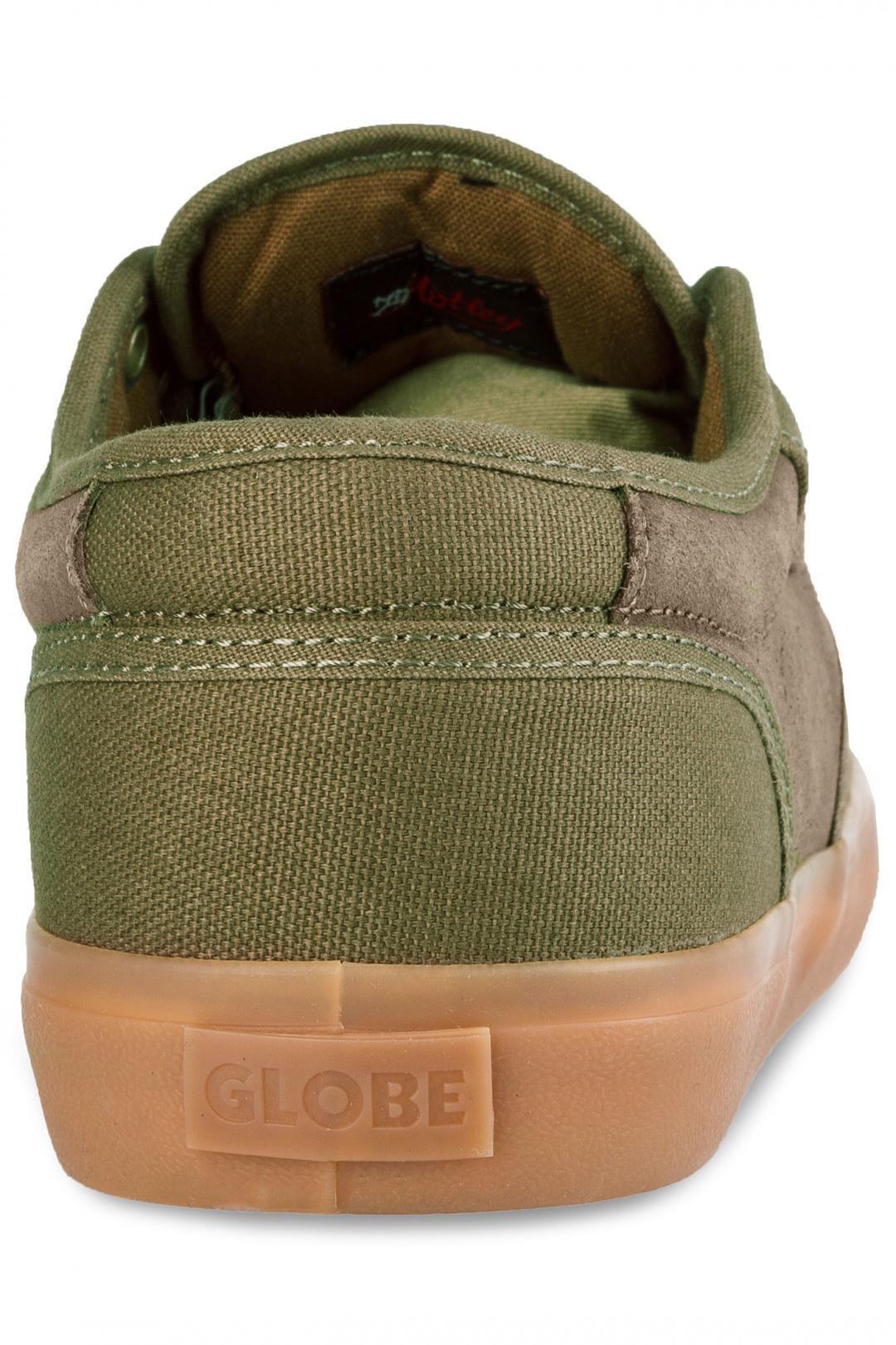 Uomo Globe Motley olive brown gum | Scarpe da skate