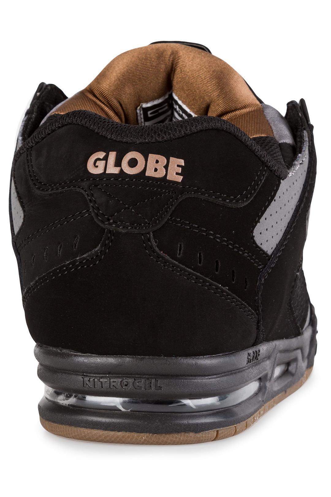 Uomo Globe Sabre black charcoal woodsmoke brown | Scarpe da skate