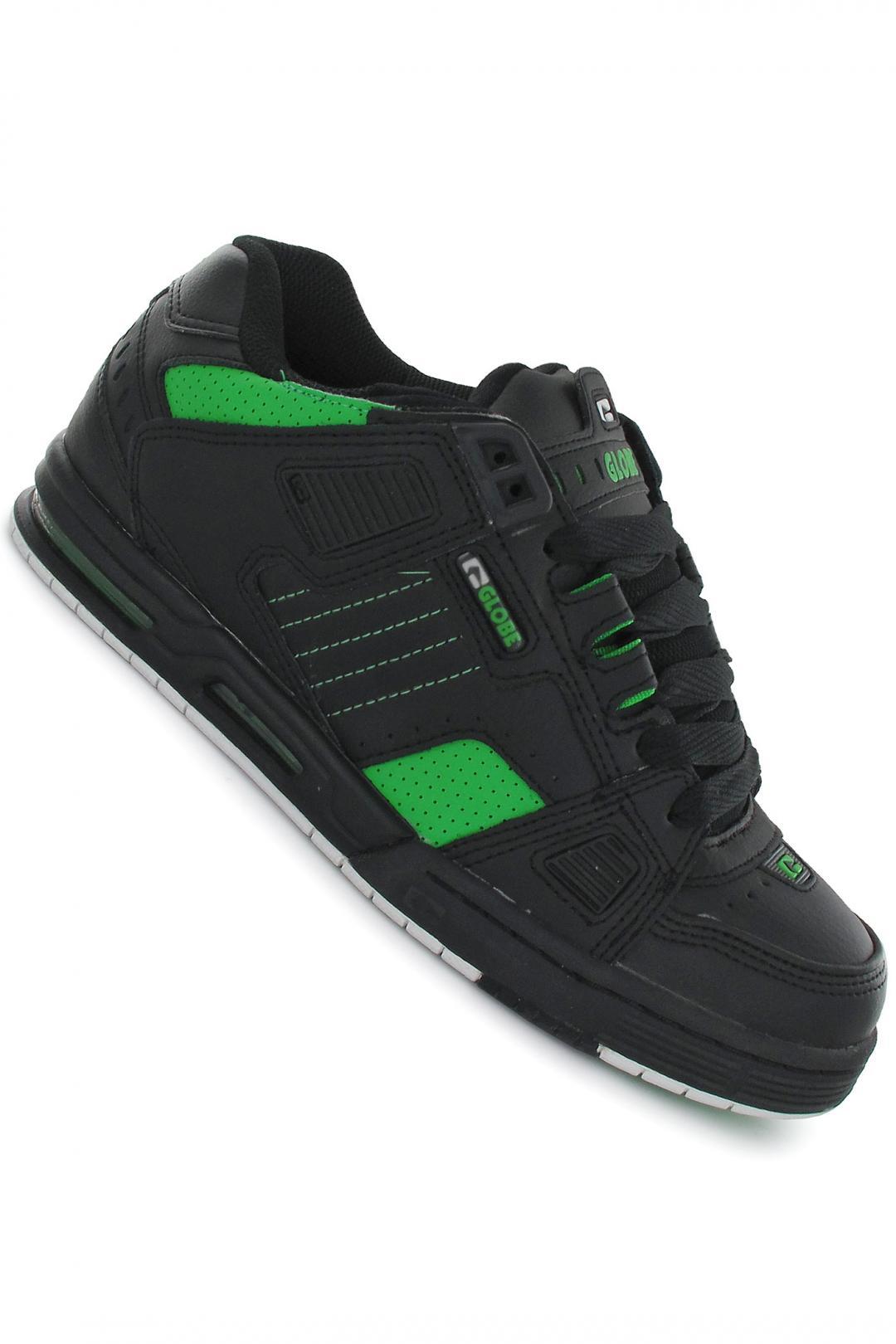 Uomo Globe Sabre black moto green | Sneakers low top