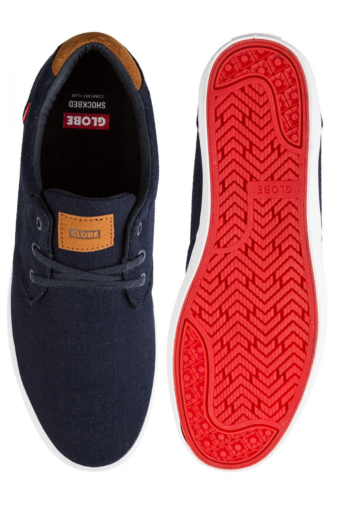Uomo Globe Willow indigo hemp | Sneakers low top