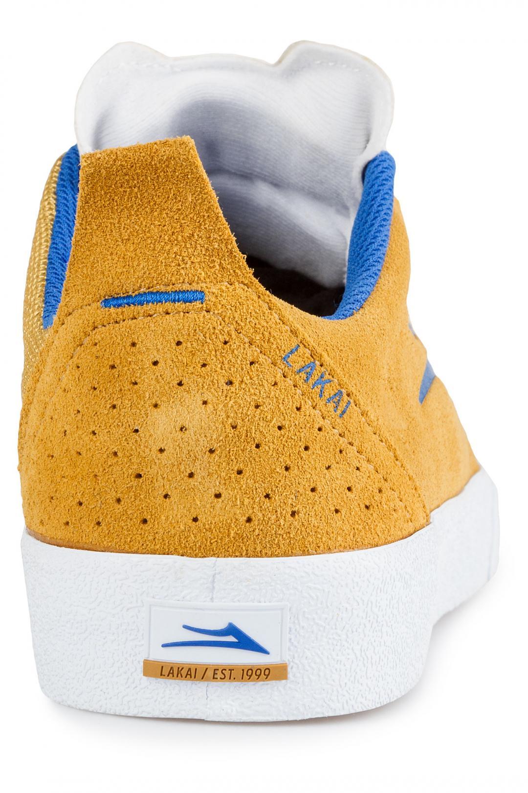 Uomo Lakai Bristol Suede gold blue | Sneakers low top