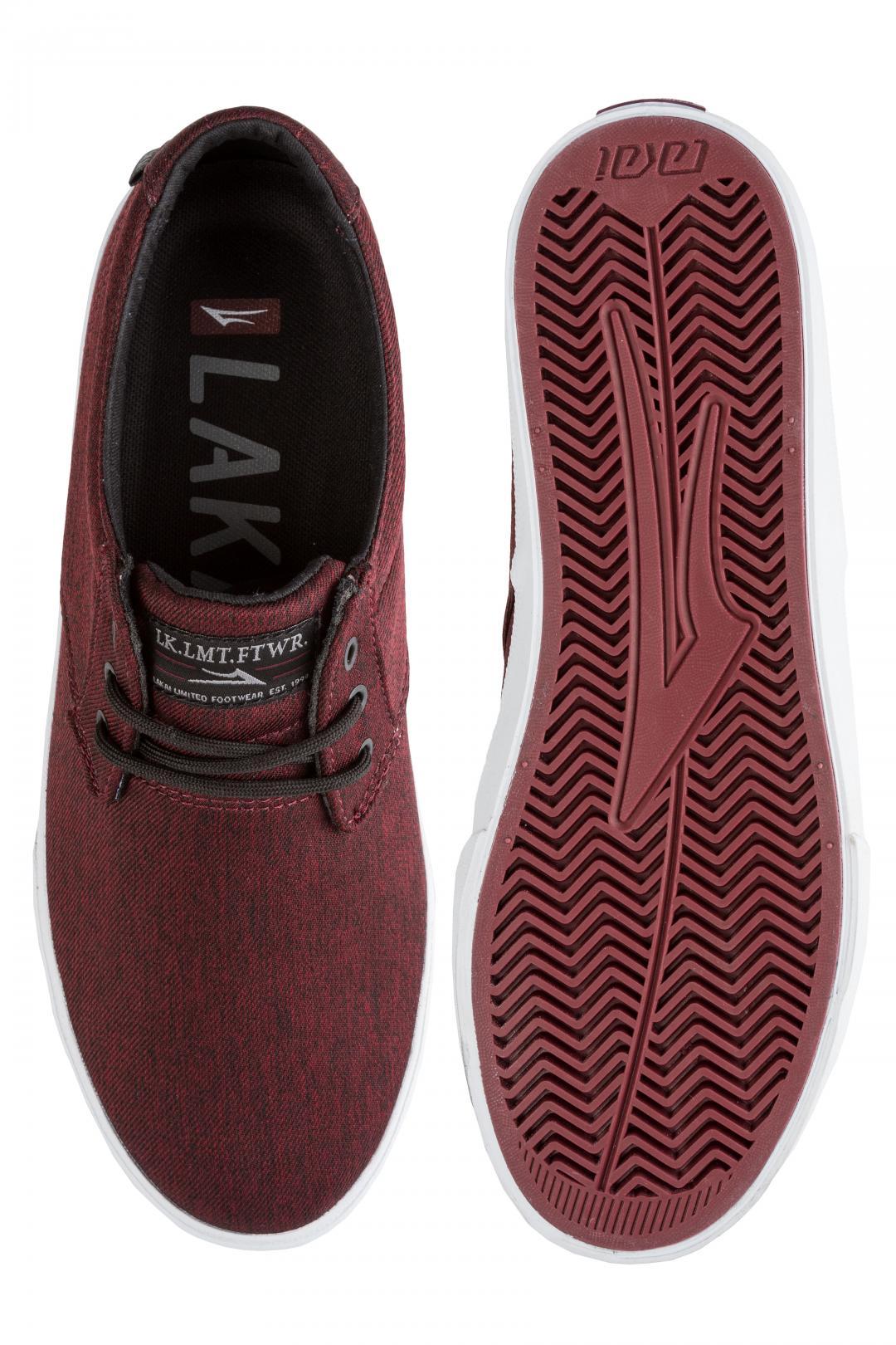 Uomo Lakai Daly burgundy   Sneaker