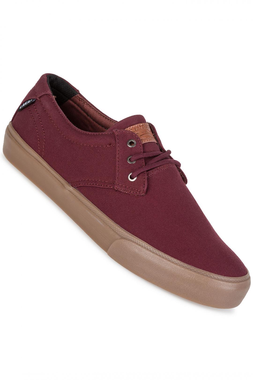 Uomo Lakai Daly Canvas mahogany | Sneakers low top