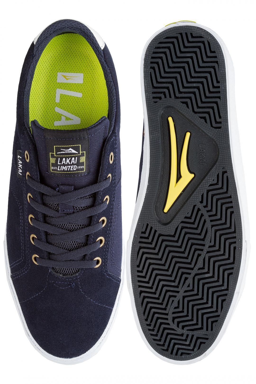 Uomo Lakai Flaco Suede navy white   Sneaker