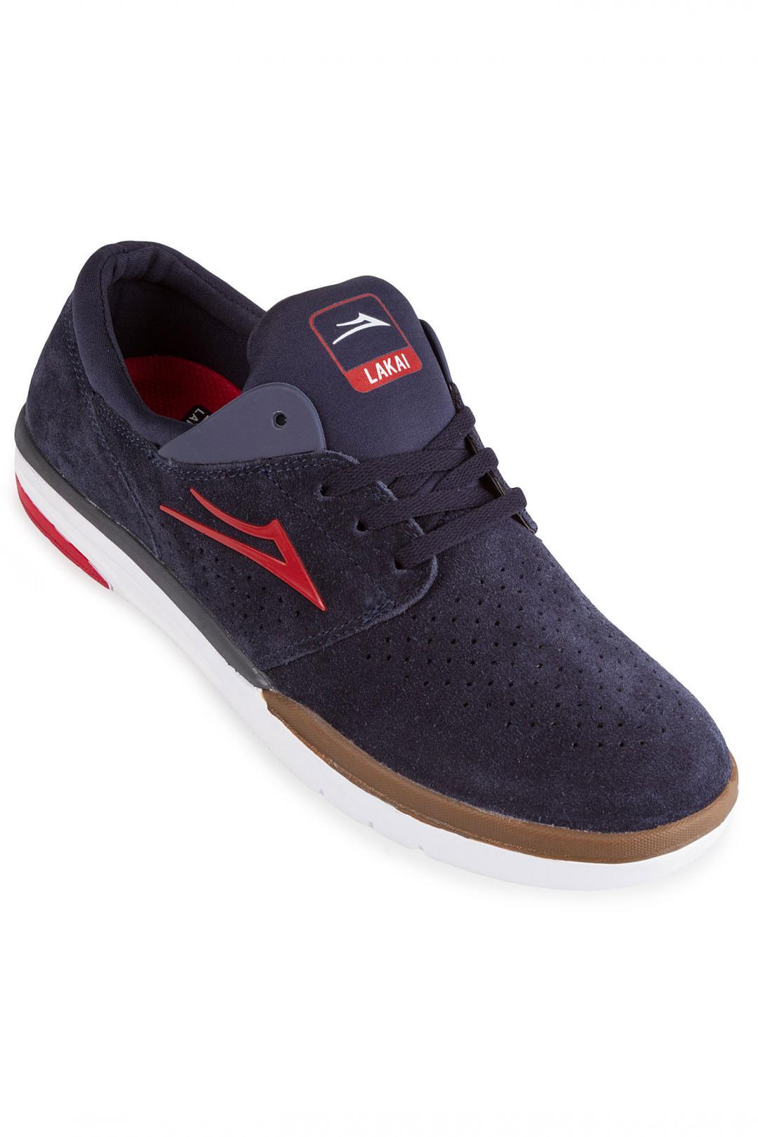 Uomo Lakai Fremont Suede navy red | Sneaker