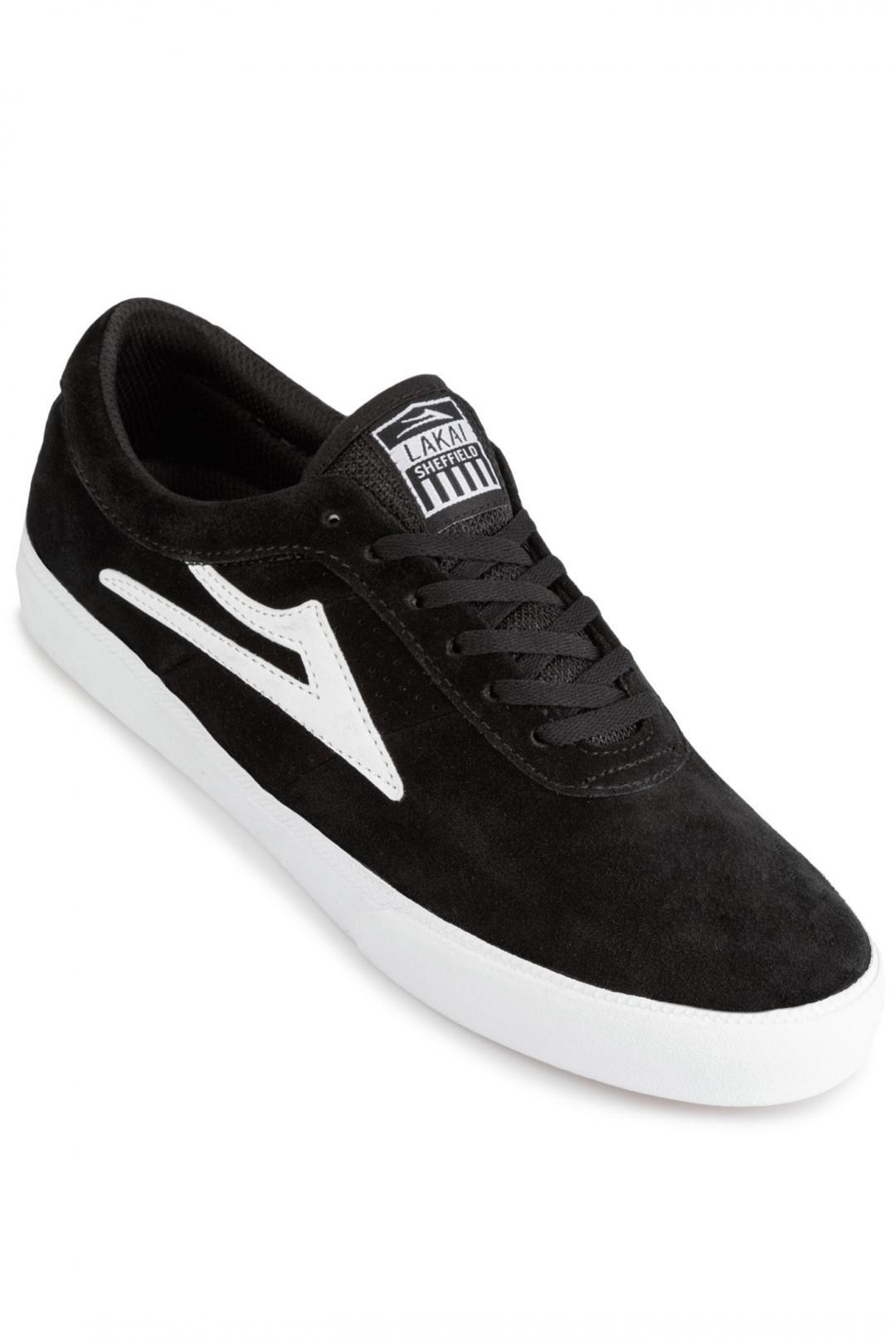 Uomo Lakai Griffin Suede black white 2 | Sneaker
