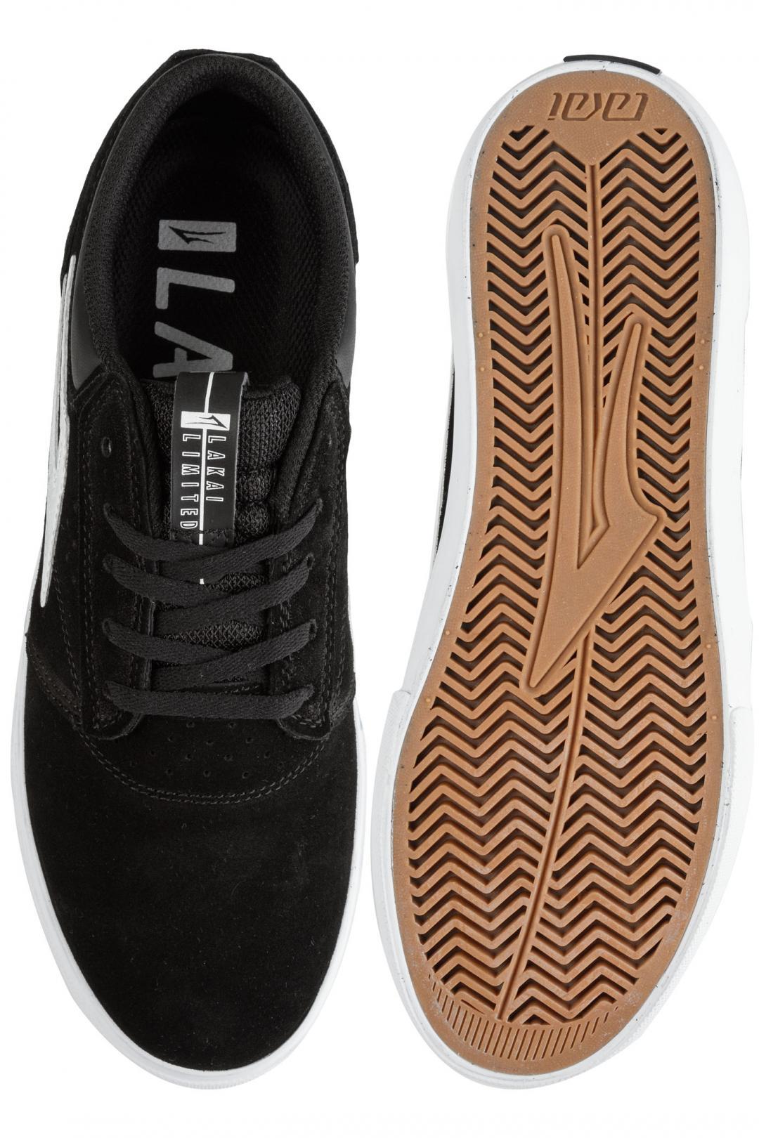 Uomo Lakai Griffin Suede black white | Sneaker