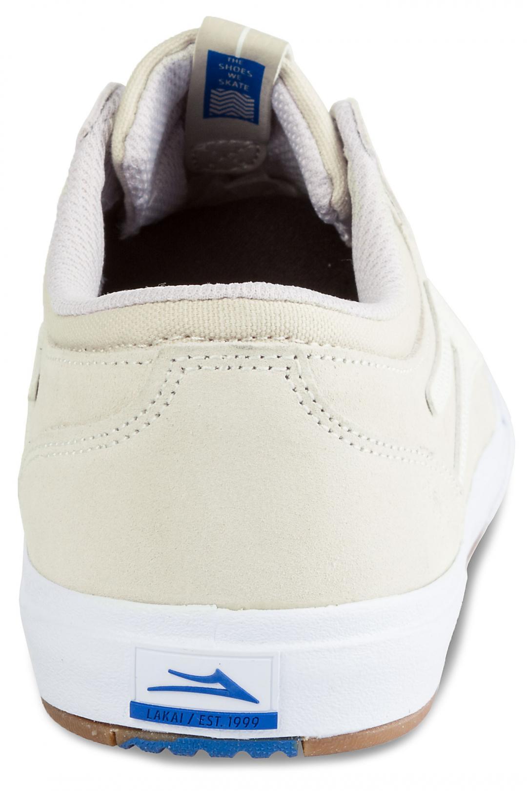 Uomo Lakai Griffin Suede white white | Sneaker