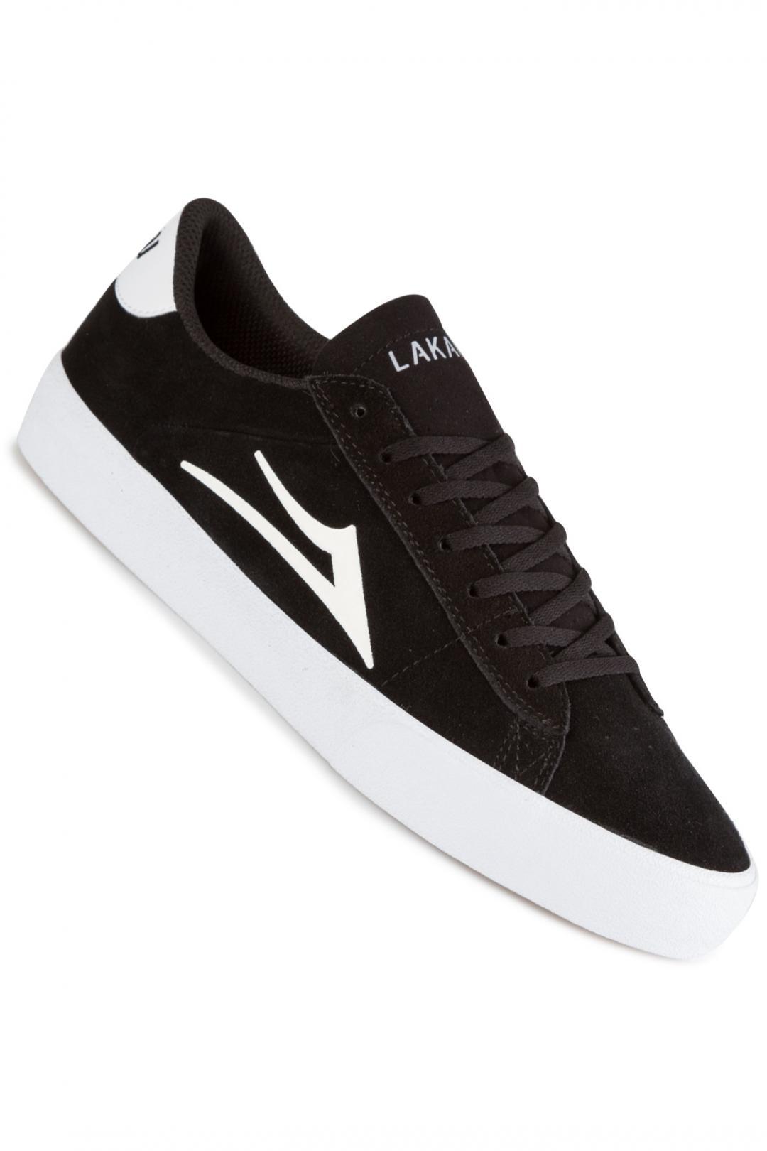 Uomo Lakai Newport Suede black white | Sneakers low top