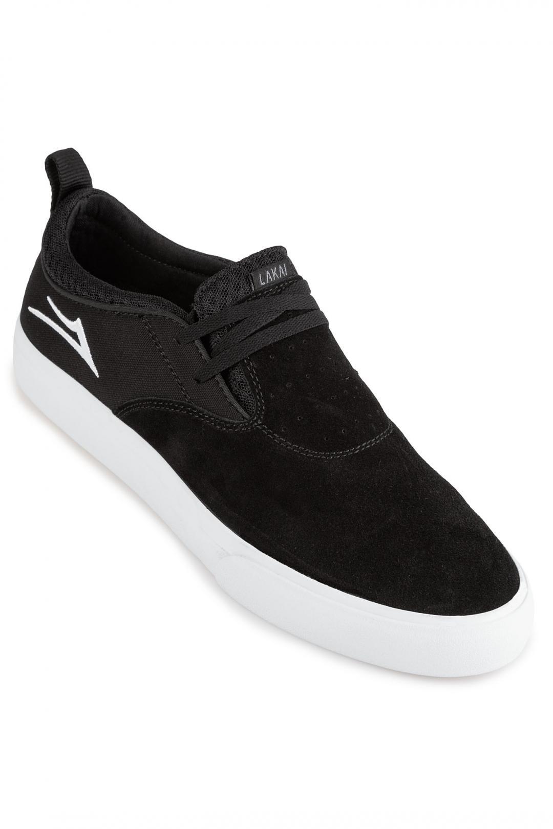 Uomo Lakai Riley Hawk 2 Suede black | Sneakers low top