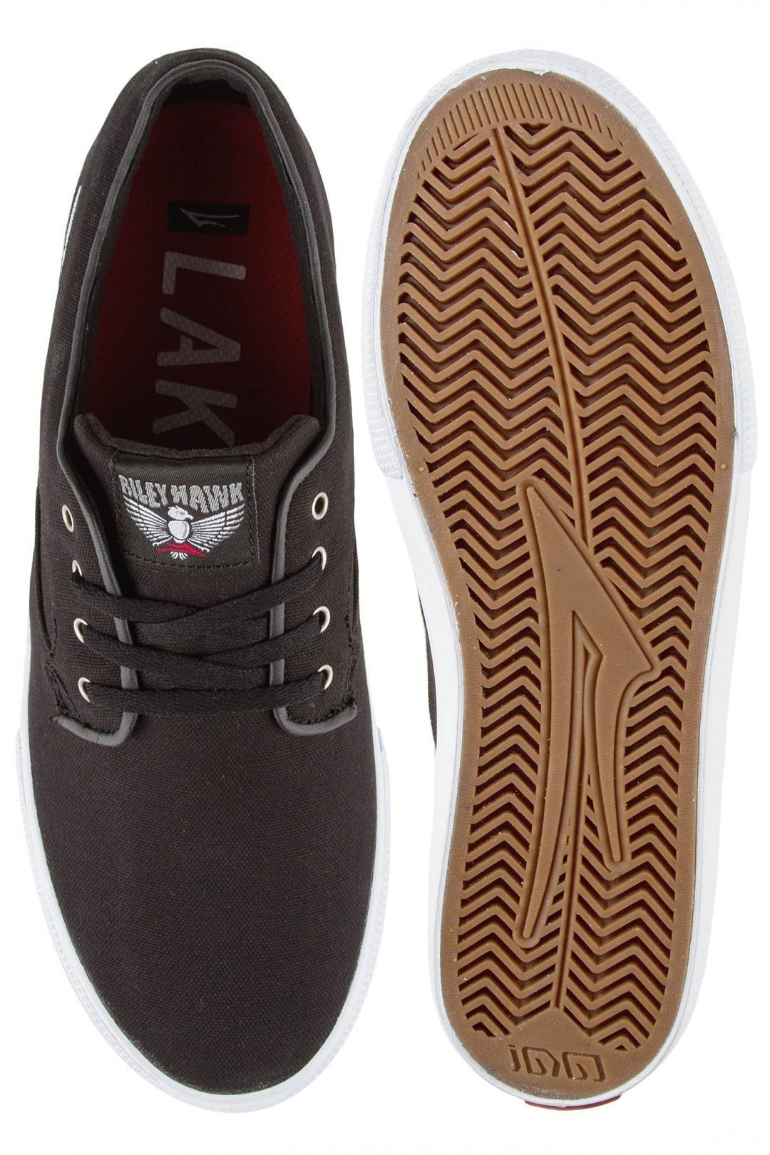Uomo Lakai Riley Hawk Canvas black | Sneakers low top