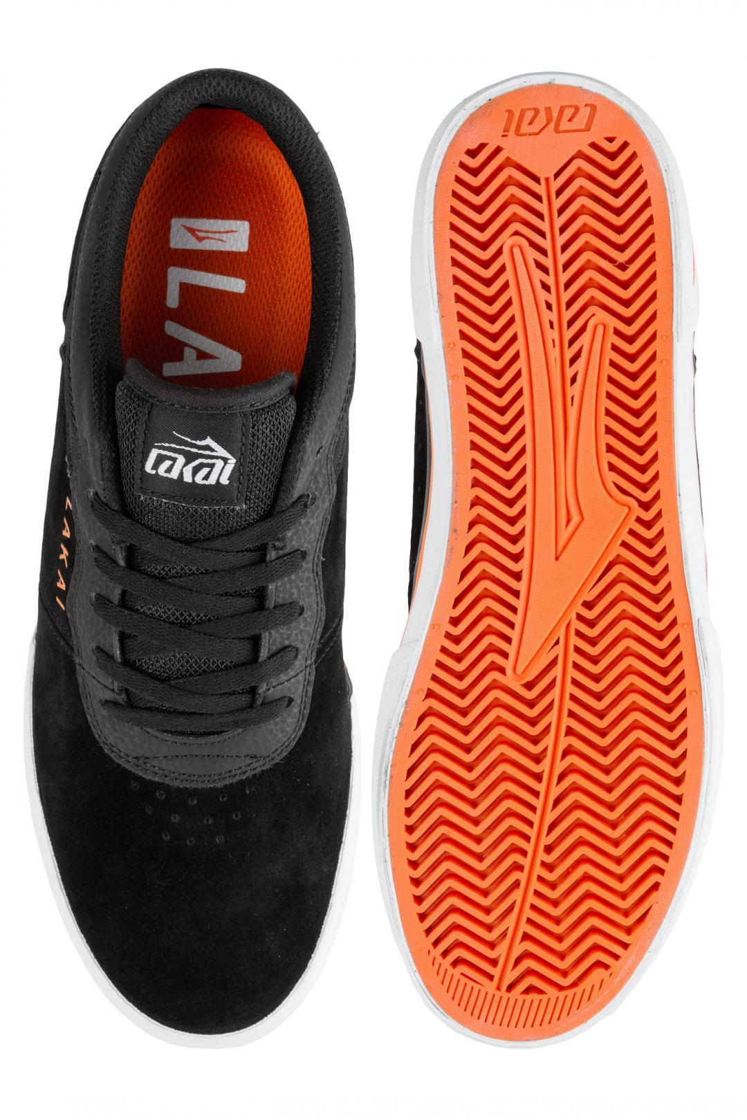 Uomo Lakai Staple Suede black orange | Sneaker