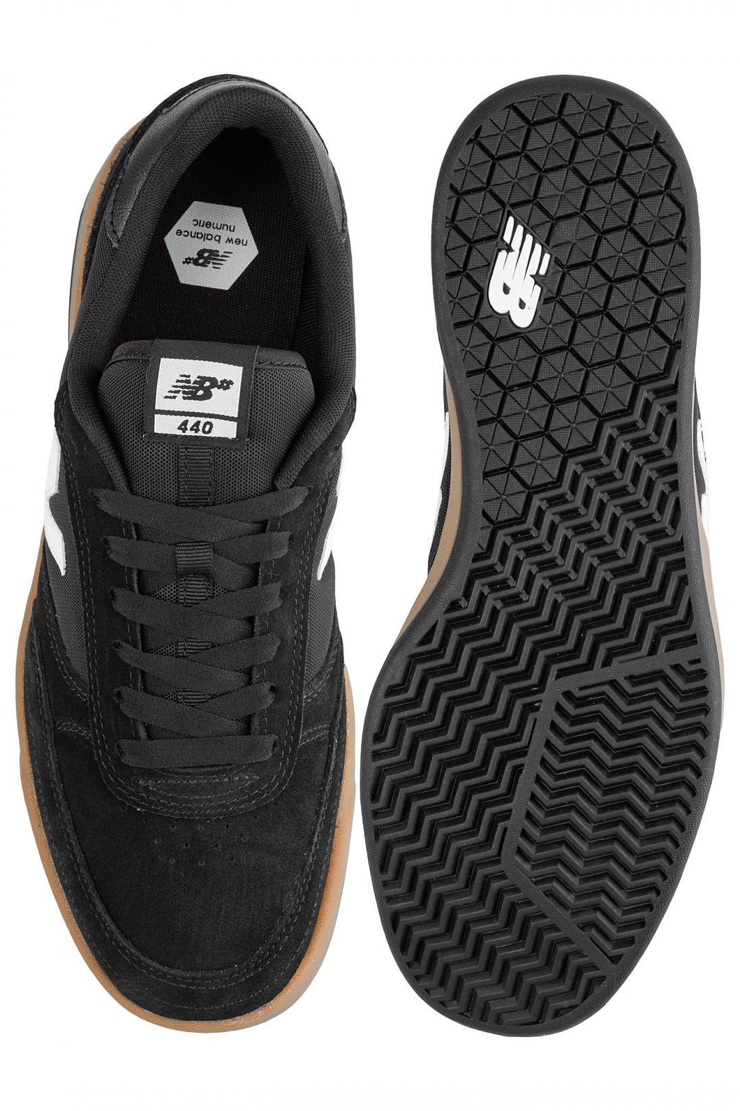 Uomo New Balance Numeric 440 black grey gum | Sneaker