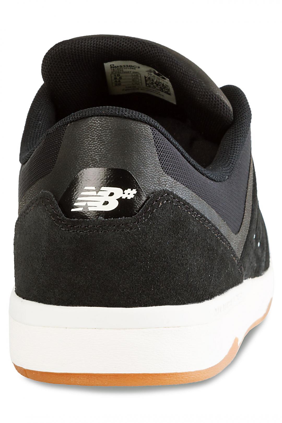Uomo New Balance Numeric 533 v2 black white gum | Sneaker