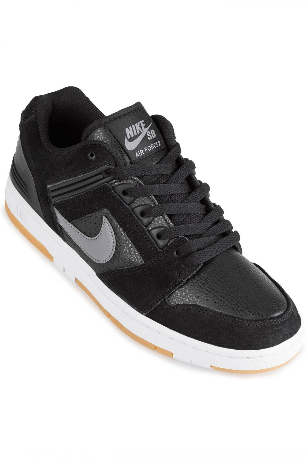 Uomo Nike SB Air Force II Low black gunsmoke | Sneaker
