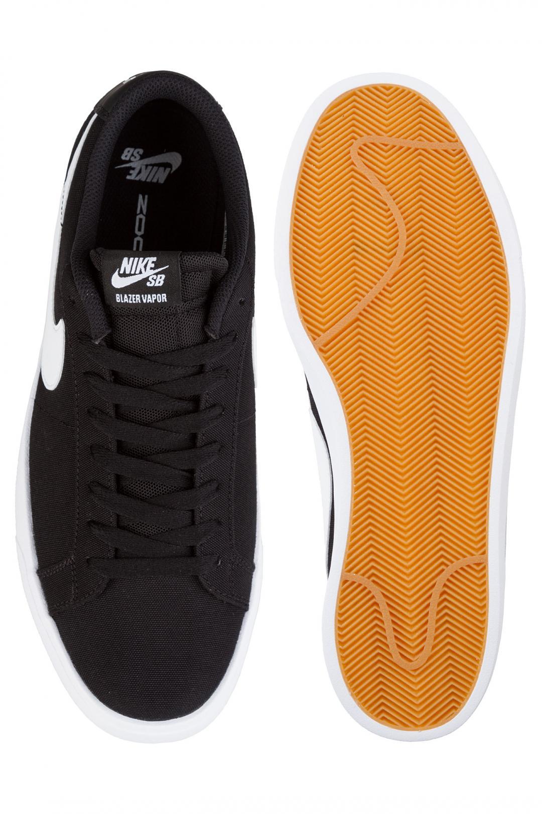 Uomo Nike SB Blazer Vapor Textile black white   Sneaker