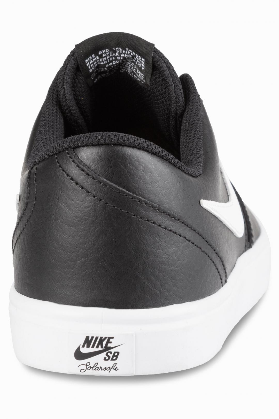 Uomo Nike SB Check Solarsoft Leather black white | Sneakers low top