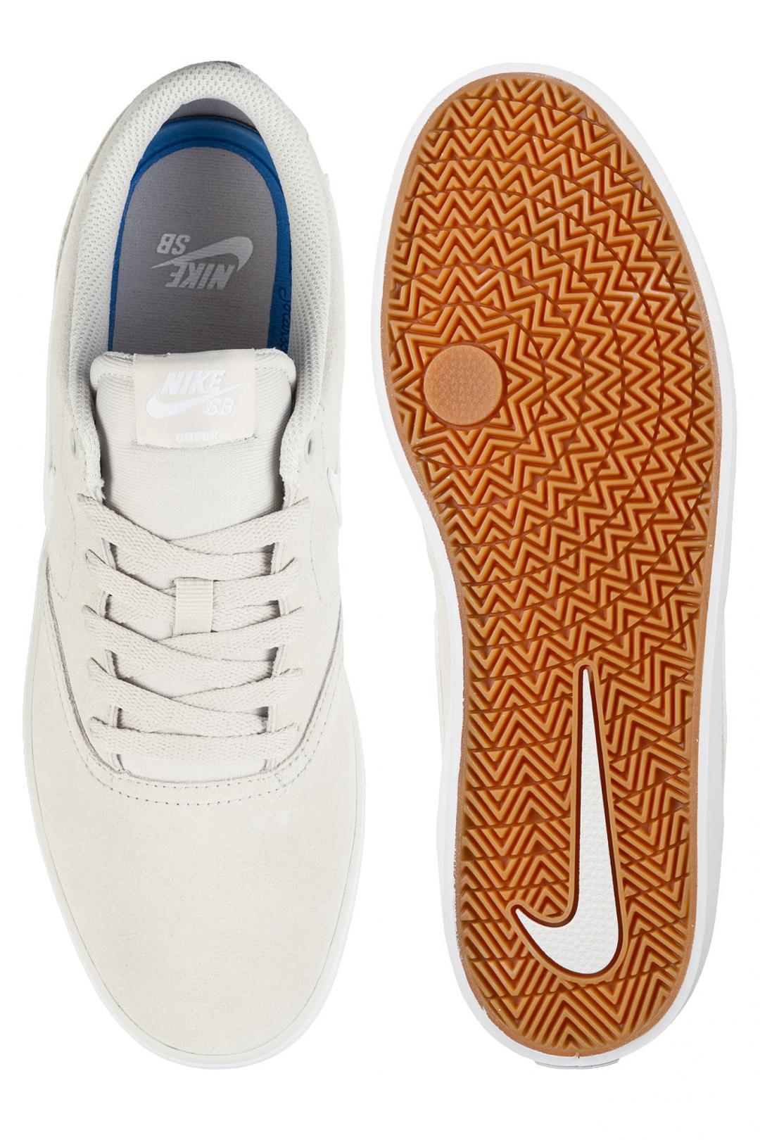 Uomo Nike SB Check Solarsoft light bone white   Scarpe da skate