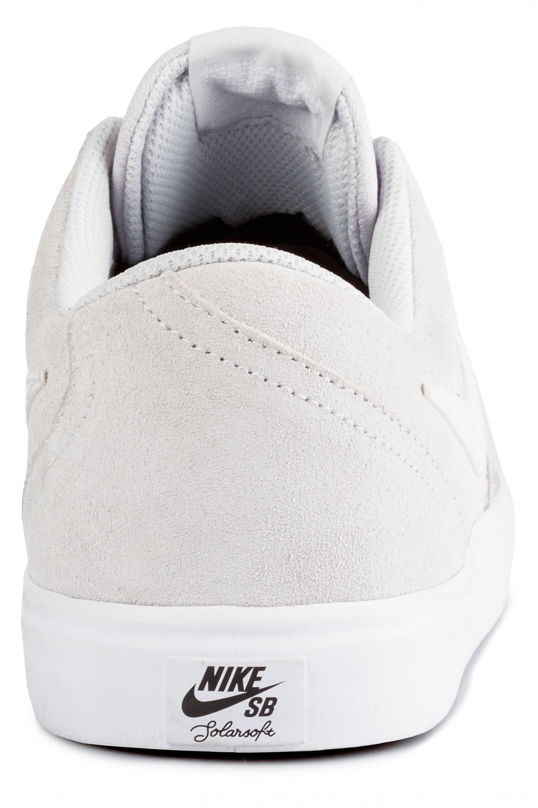 Uomo Nike SB Check Solarsoft vast grey white | Sneakers low top