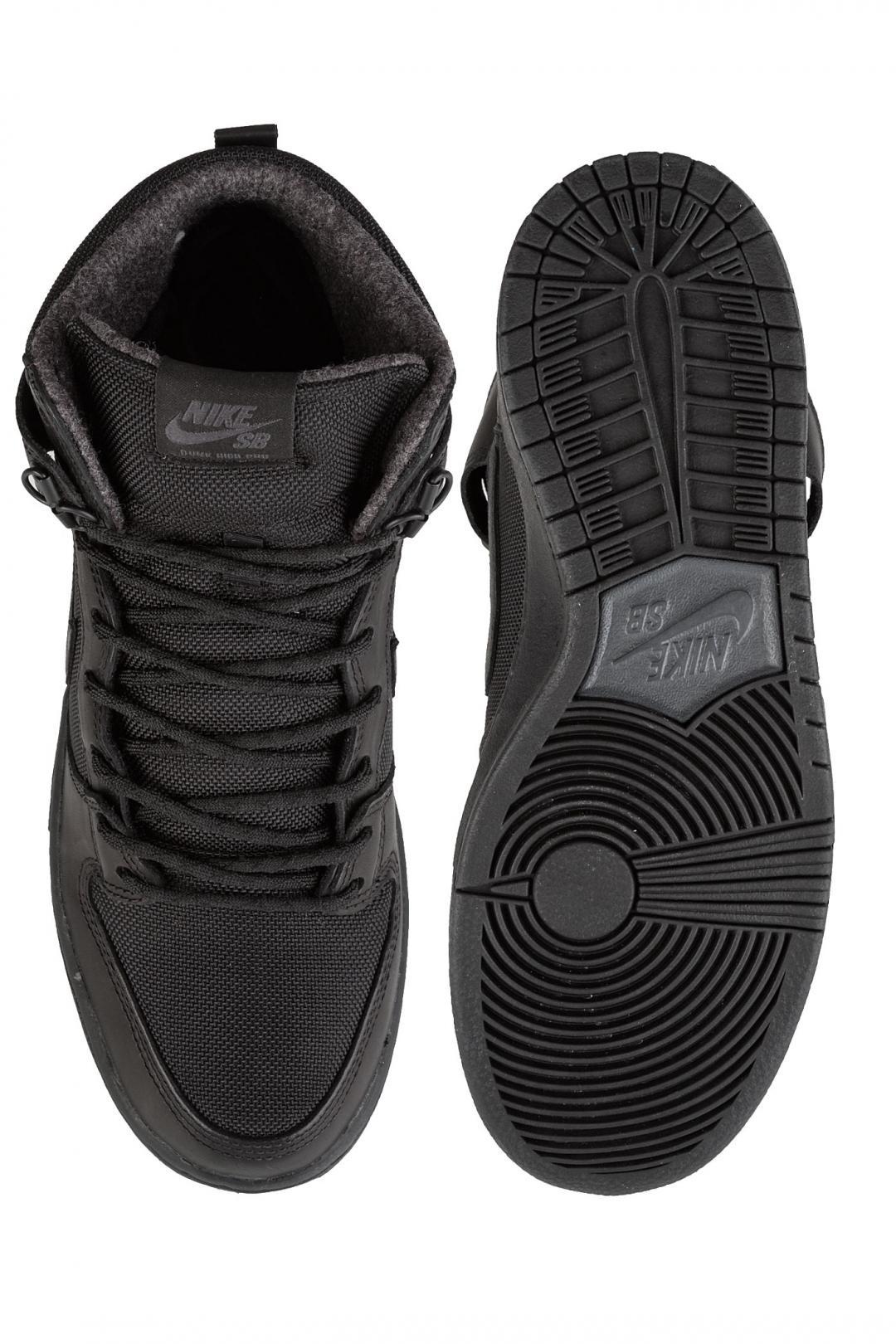 Uomo Nike SB Dunk Hi Pro Bota black black   Sneakers high top