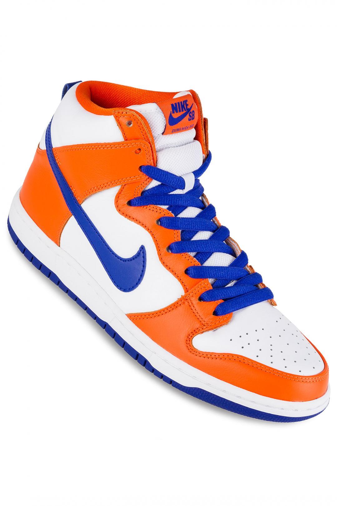 Uomo Nike SB Dunk High OG Danny Supa QS safety orange hyper blue white | Scarpe da skate