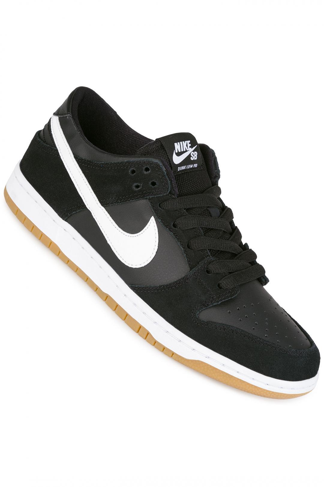 Uomo Nike SB Dunk Low Pro black white gum | Sneakers low top