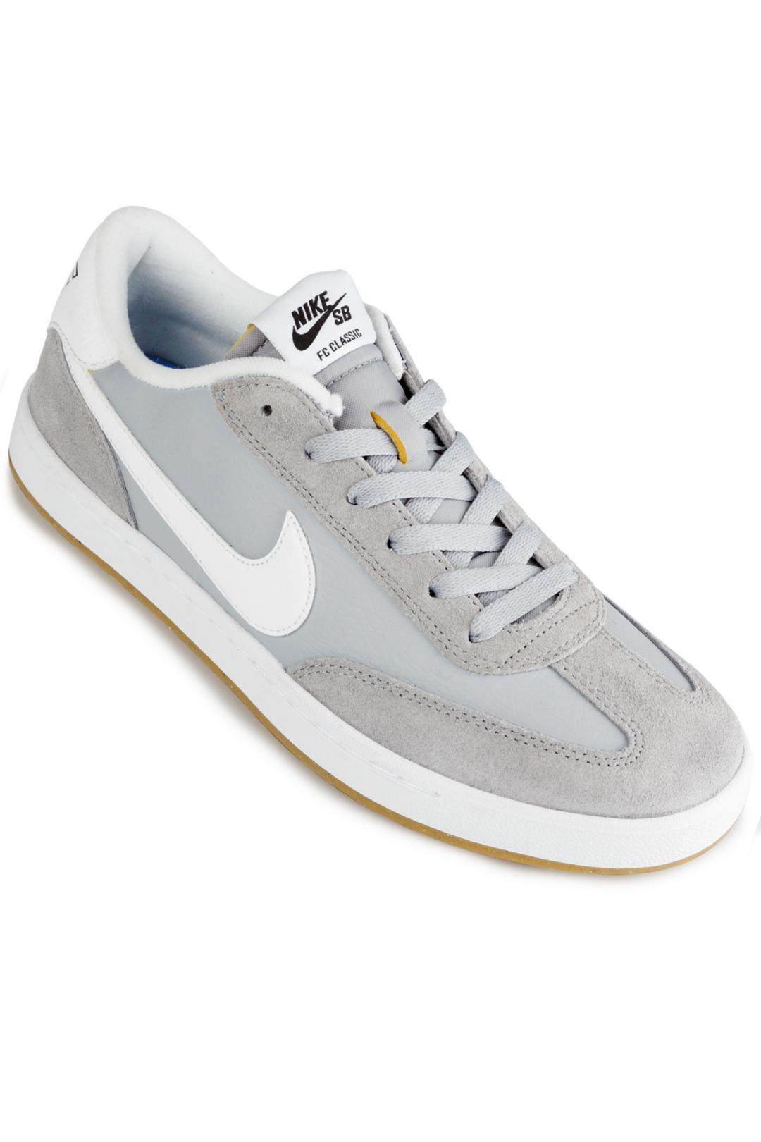Uomo Nike SB FC Classic wolf grey white   Scarpe da skate