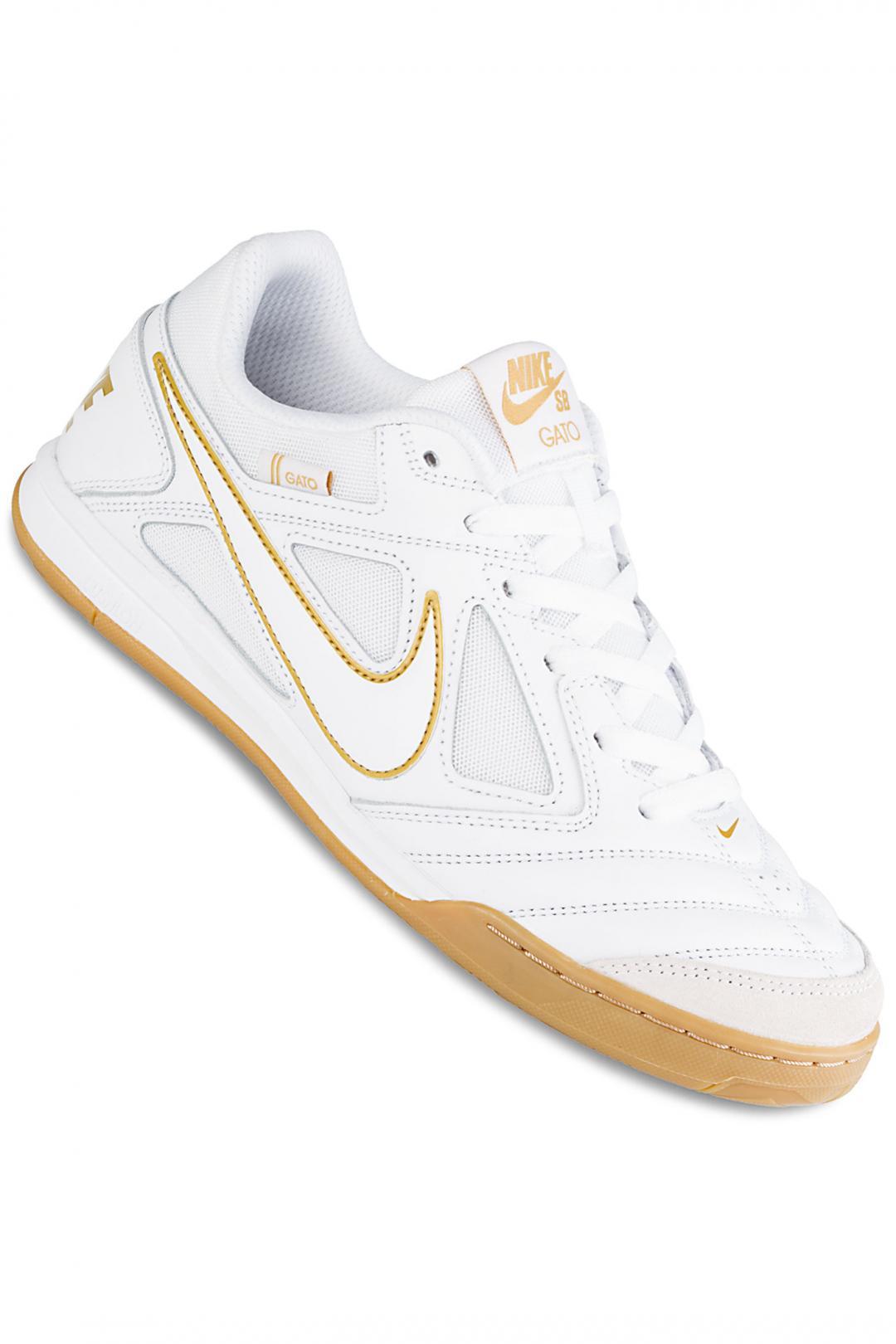 Uomo Nike SB Gato white metallic gold | Sneaker