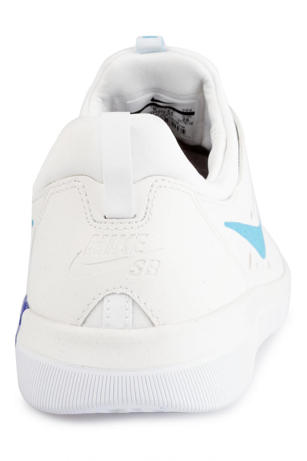 Uomo Nike SB Nyjah Free summit white light blue | Scarpe da skate
