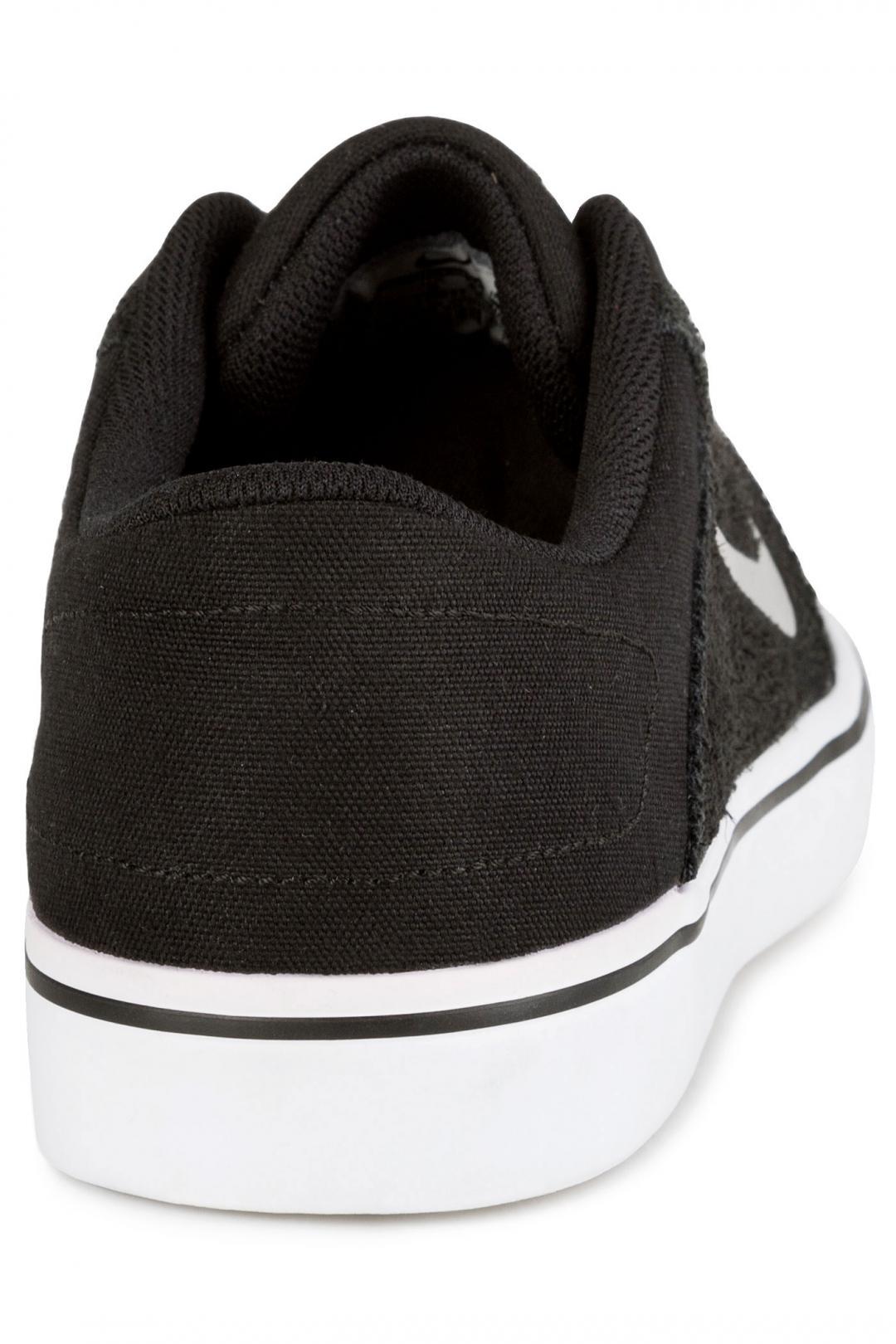 Uomo Nike SB Portmore black white medium grey   Sneakers low top