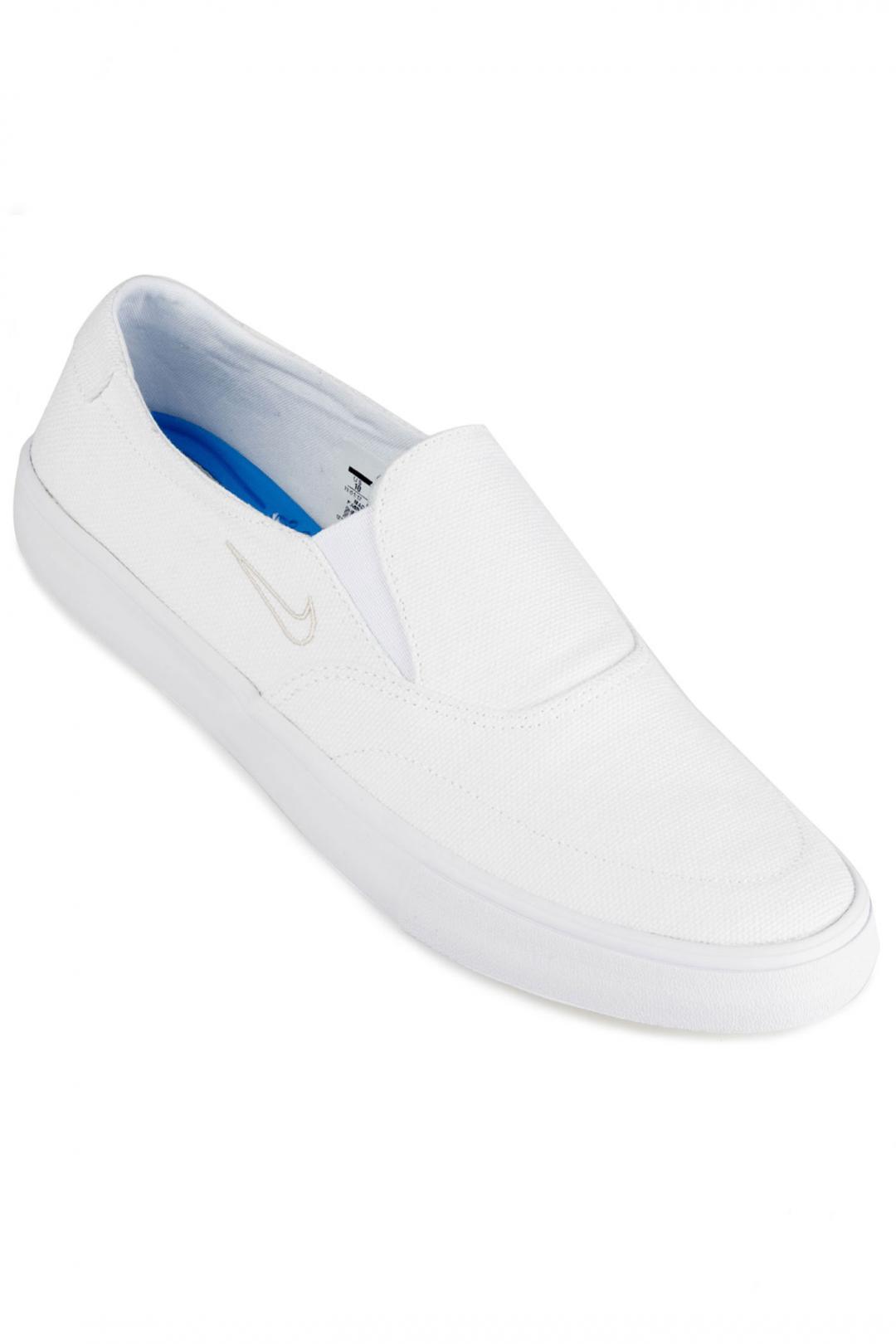 Uomo Nike SB Portmore II Solarsoft Slip white white   Sneakers slip on