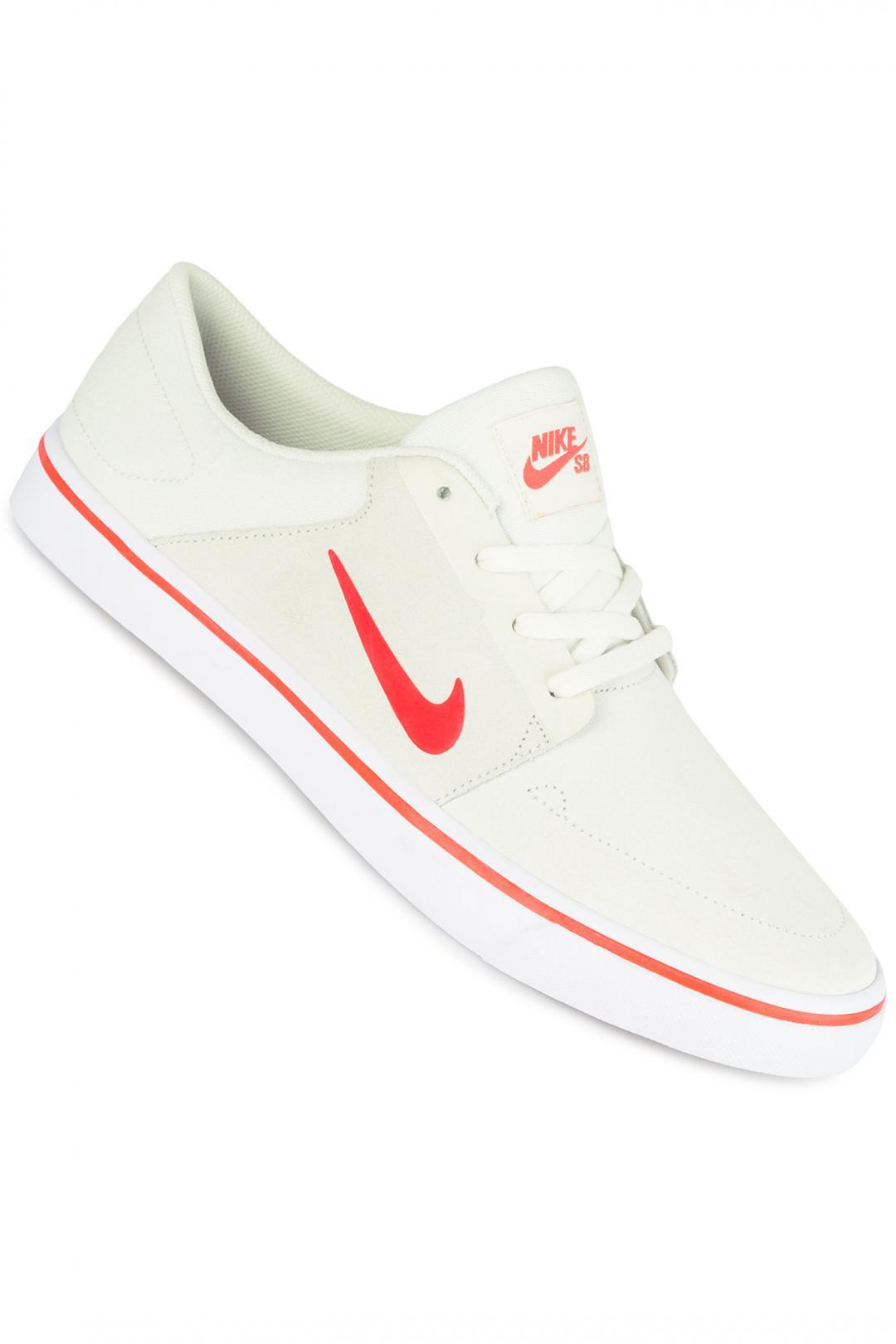 Uomo Nike SB Portmore summit white max orange white   Scarpe da skate