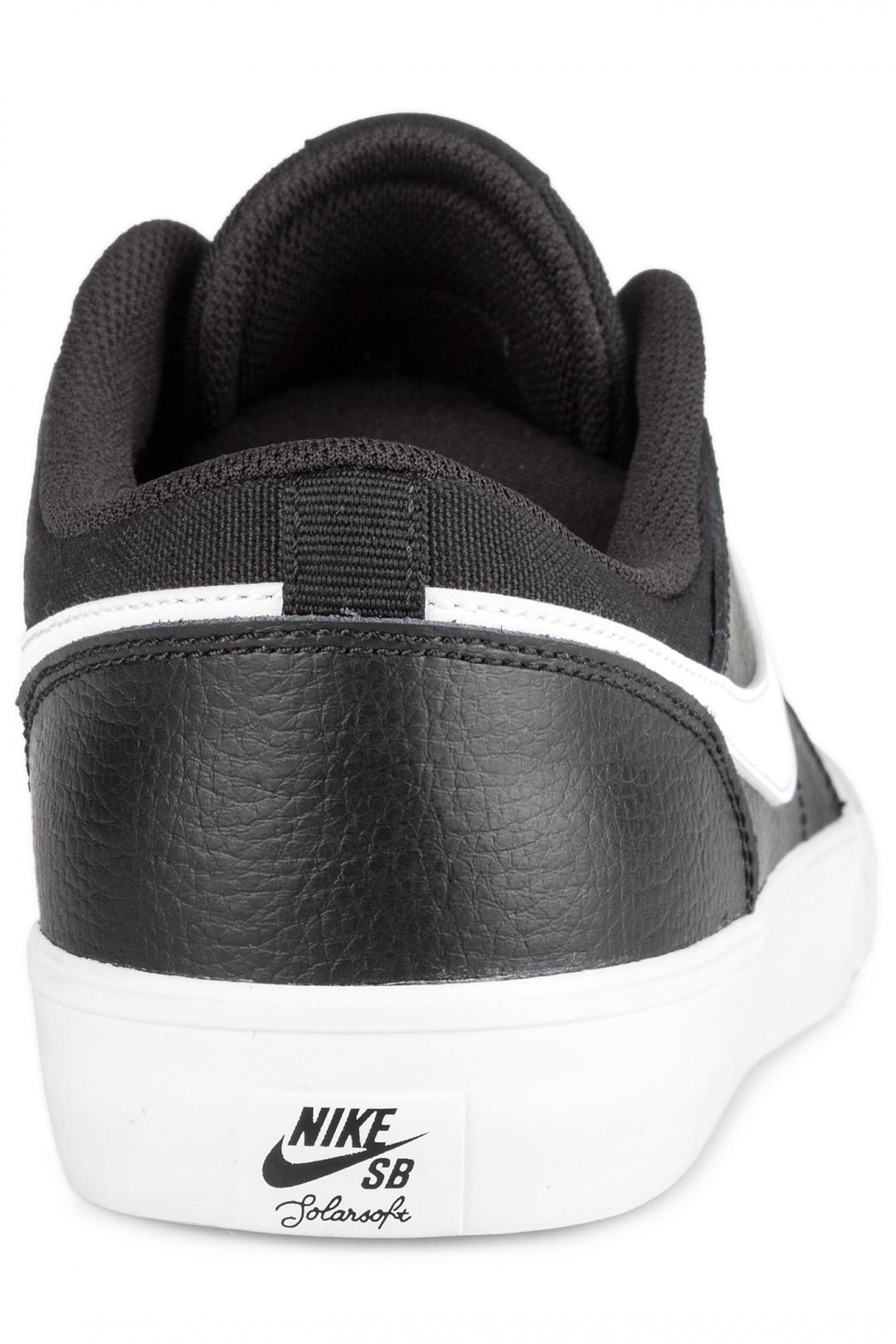 Uomo Nike SB Solarsoft Portmore II Premium black white | Sneaker
