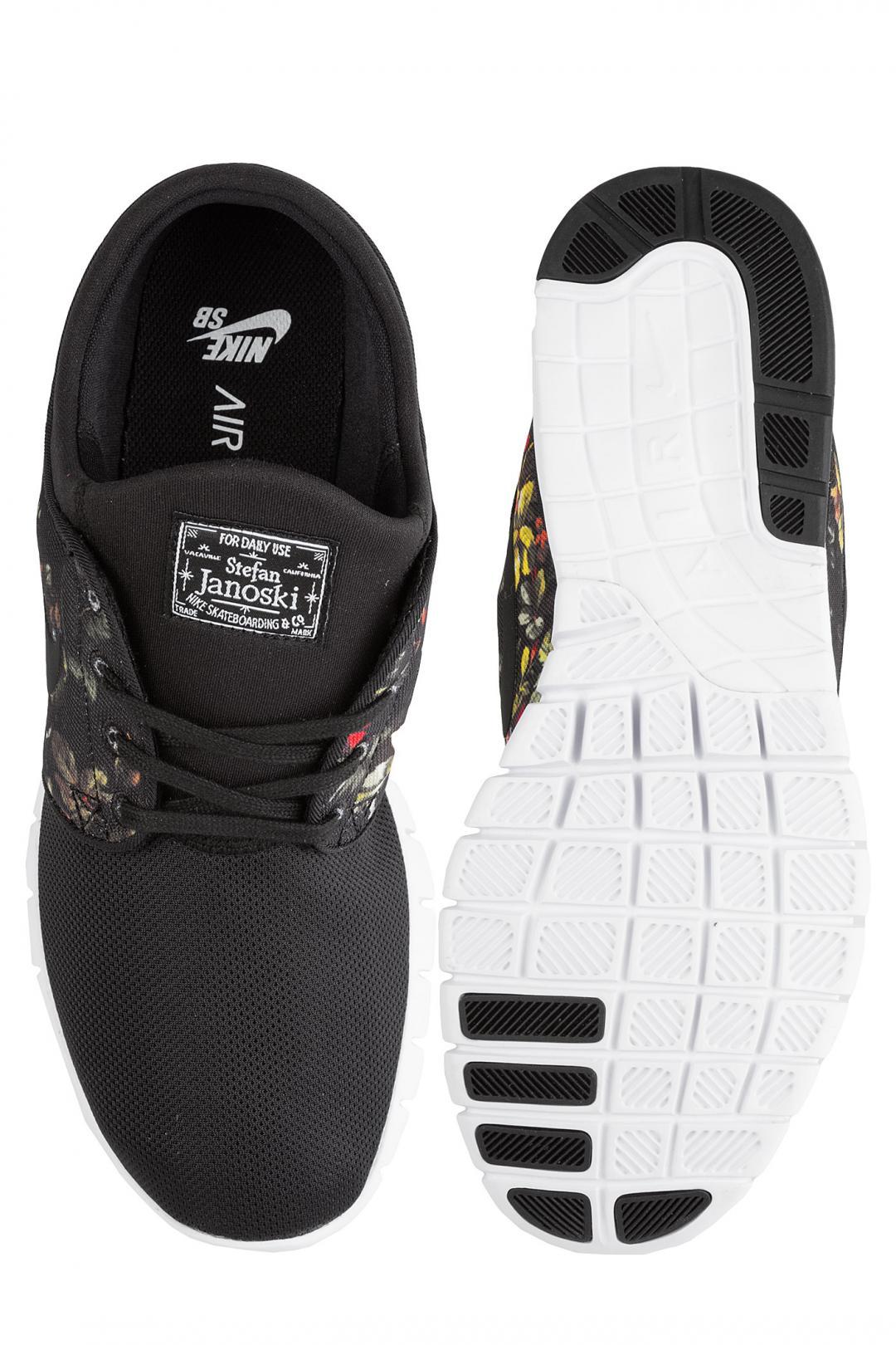 Uomo Nike SB Stefan Janoski Max black multi color floral | Sneakers low top