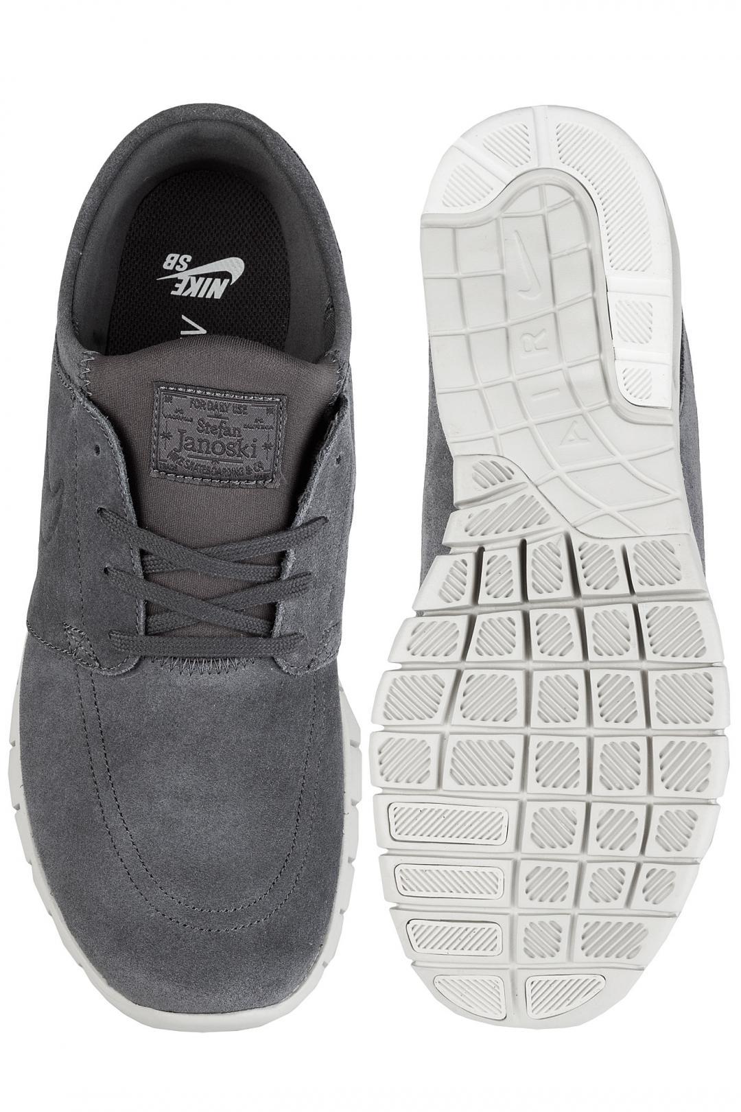 Uomo Nike SB Stefan Janoski Max Suede dark grey light bone   Sneakers low top