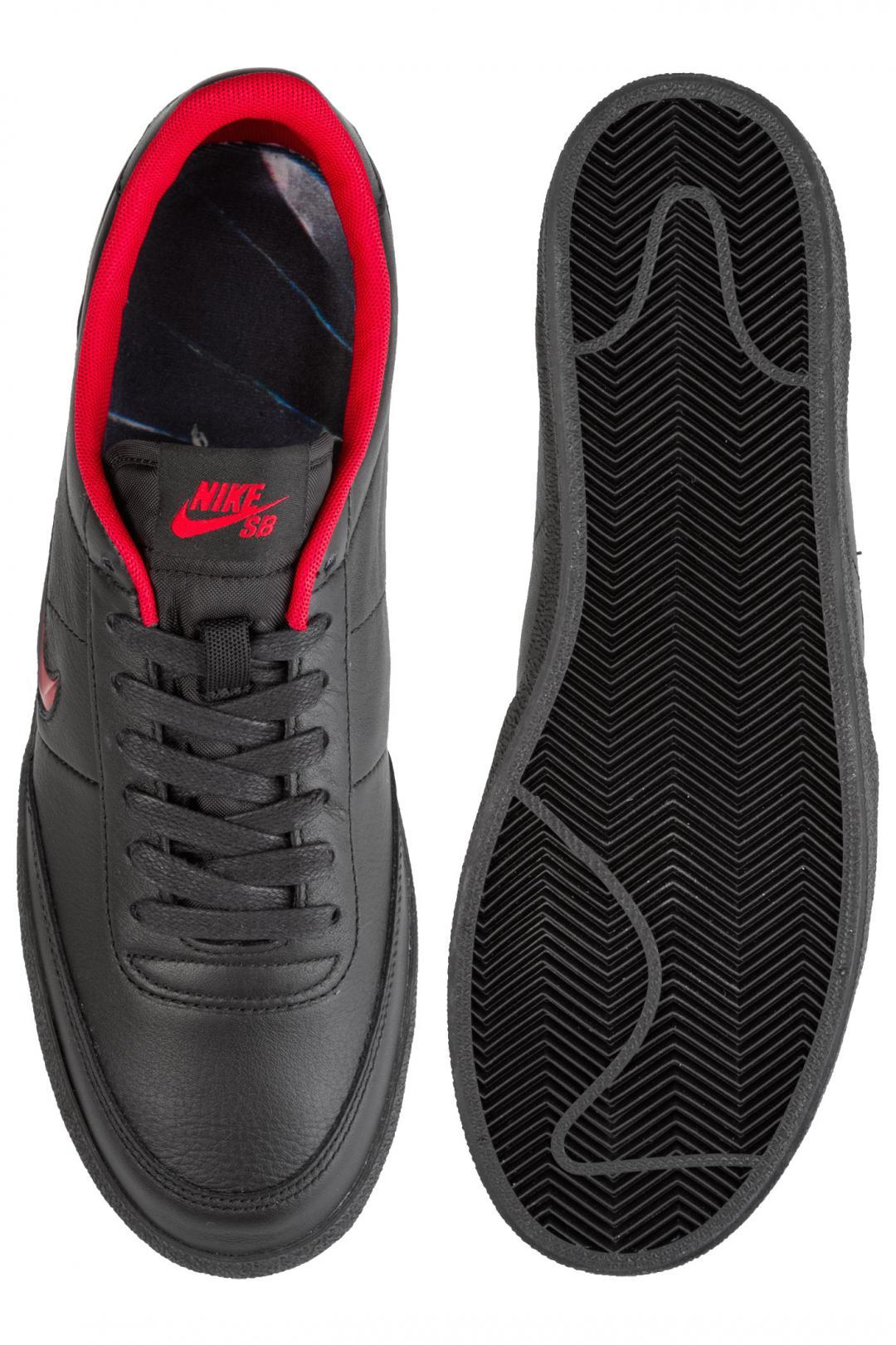 Uomo Nike SB x HOCKEY Zoom Killshot 2 QS black gym red   Sneaker