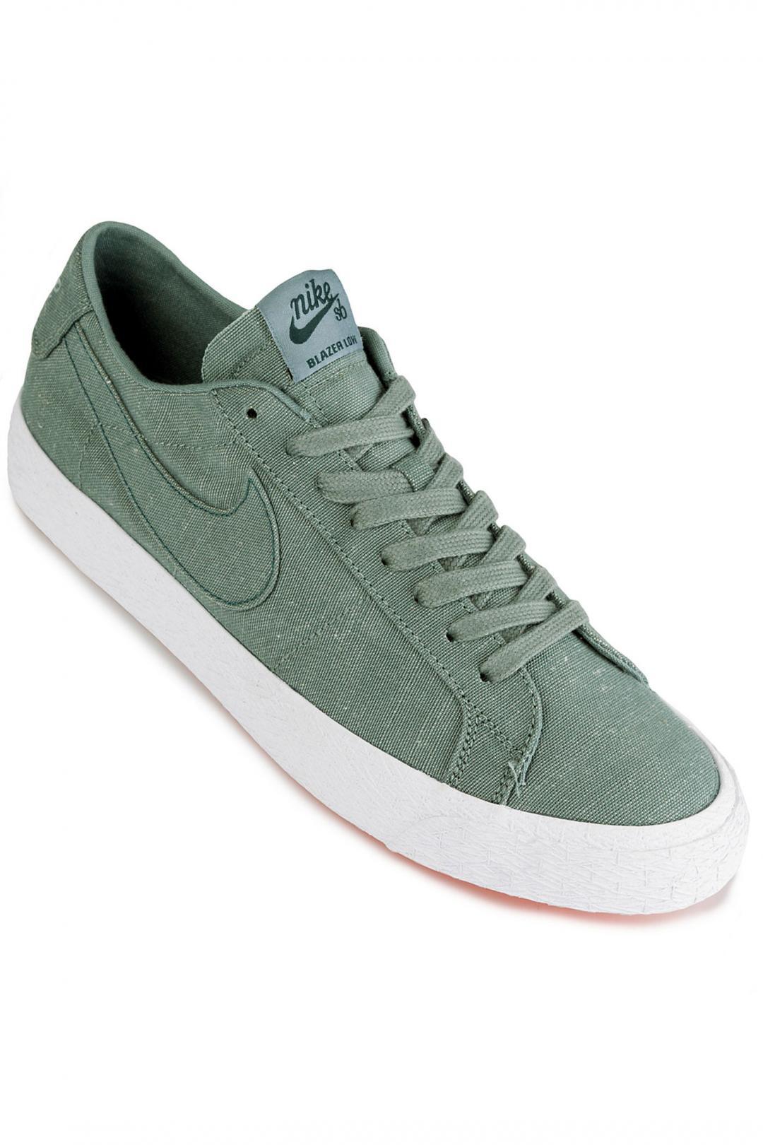 Uomo Nike SB Zoom Blazer Low Canvas Deconstructed clay green | Sneaker