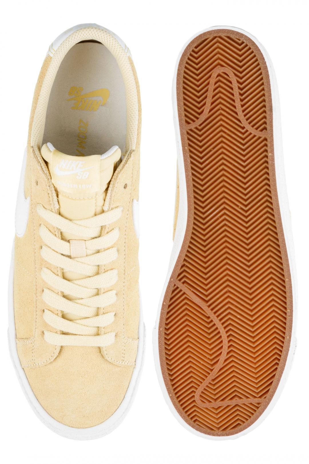 Uomo Nike SB Zoom Blazer Low lemon wash summit white   Scarpe da skate