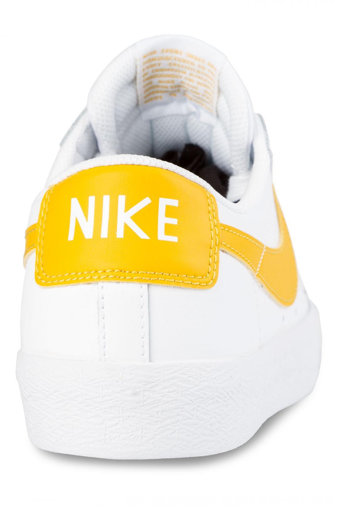 Uomo Nike SB Zoom Blazer Low white mineral gold | Sneaker
