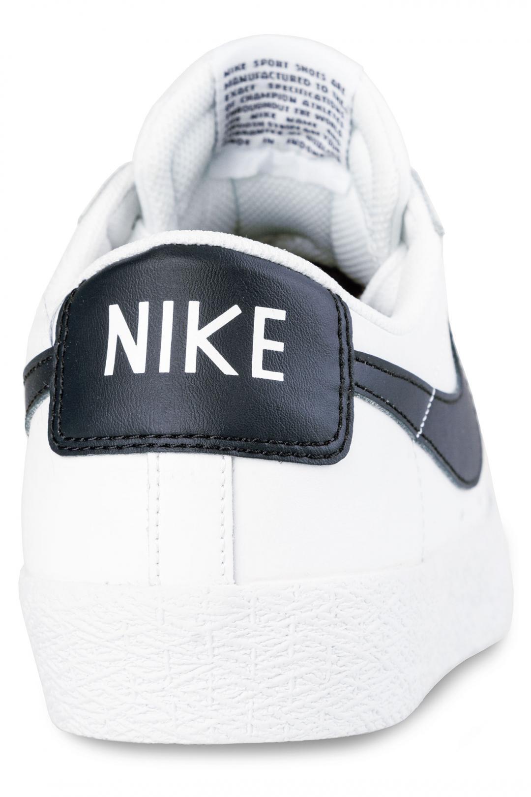 Uomo Nike SB Zoom Blazer Low white obsidian | Sneakers low top