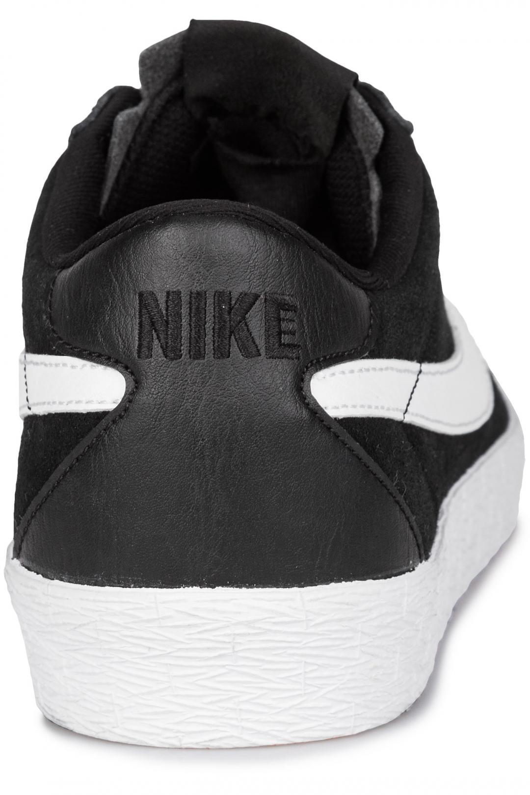 Uomo Nike SB Zoom Bruin black white   Scarpe da skate