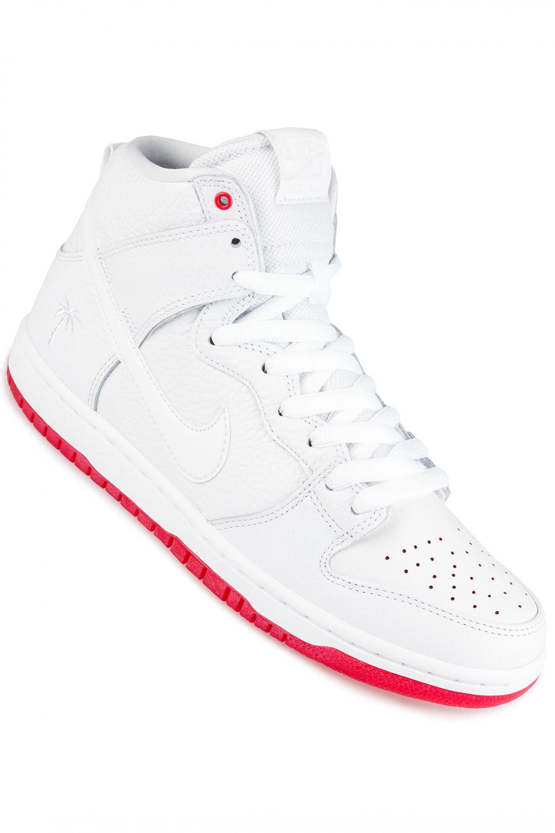 Uomo Nike SB Zoom Dunk High Kevin Bradley QS white white university red   Sneaker